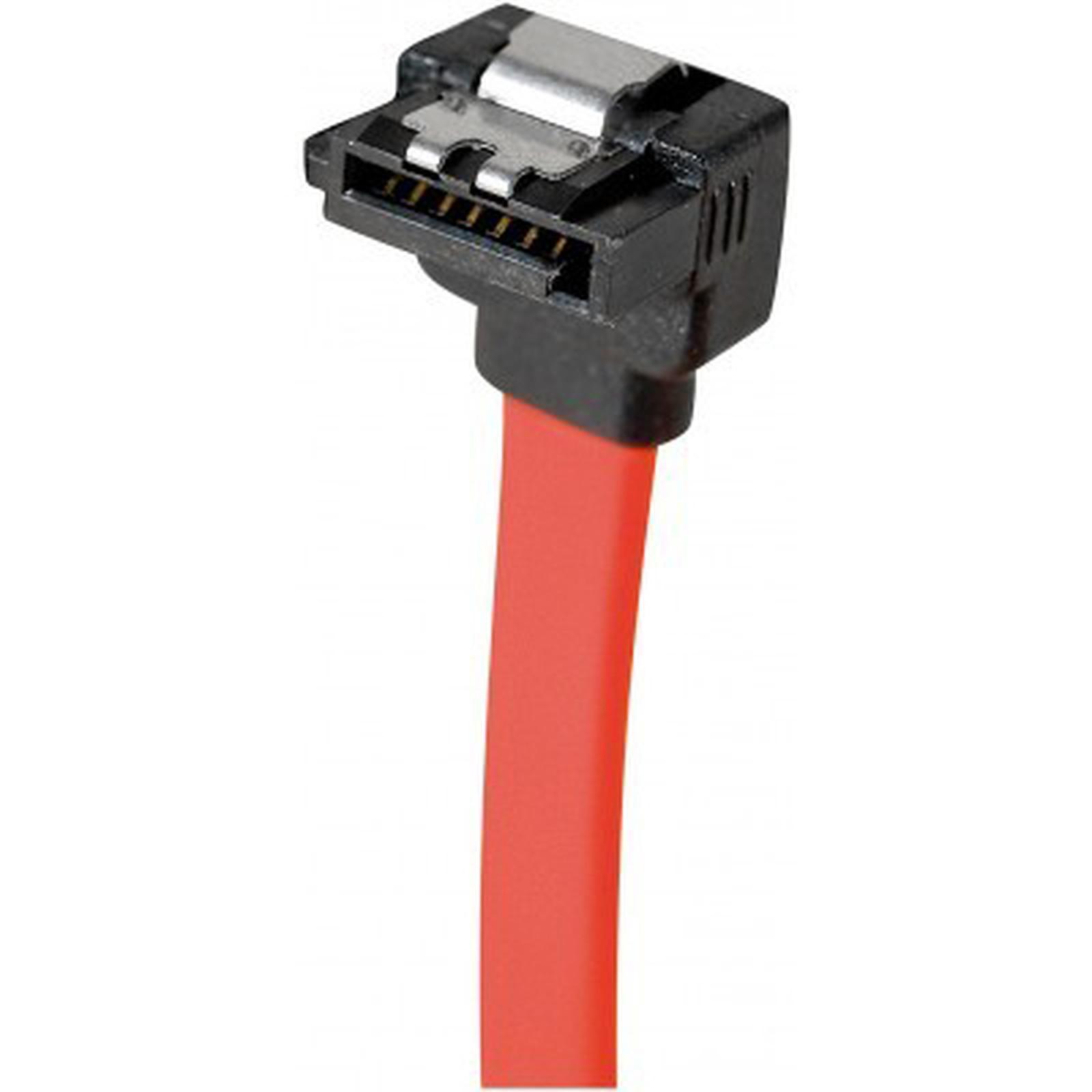 Câble SATA coudé vers le bas avec verrou (50 cm)