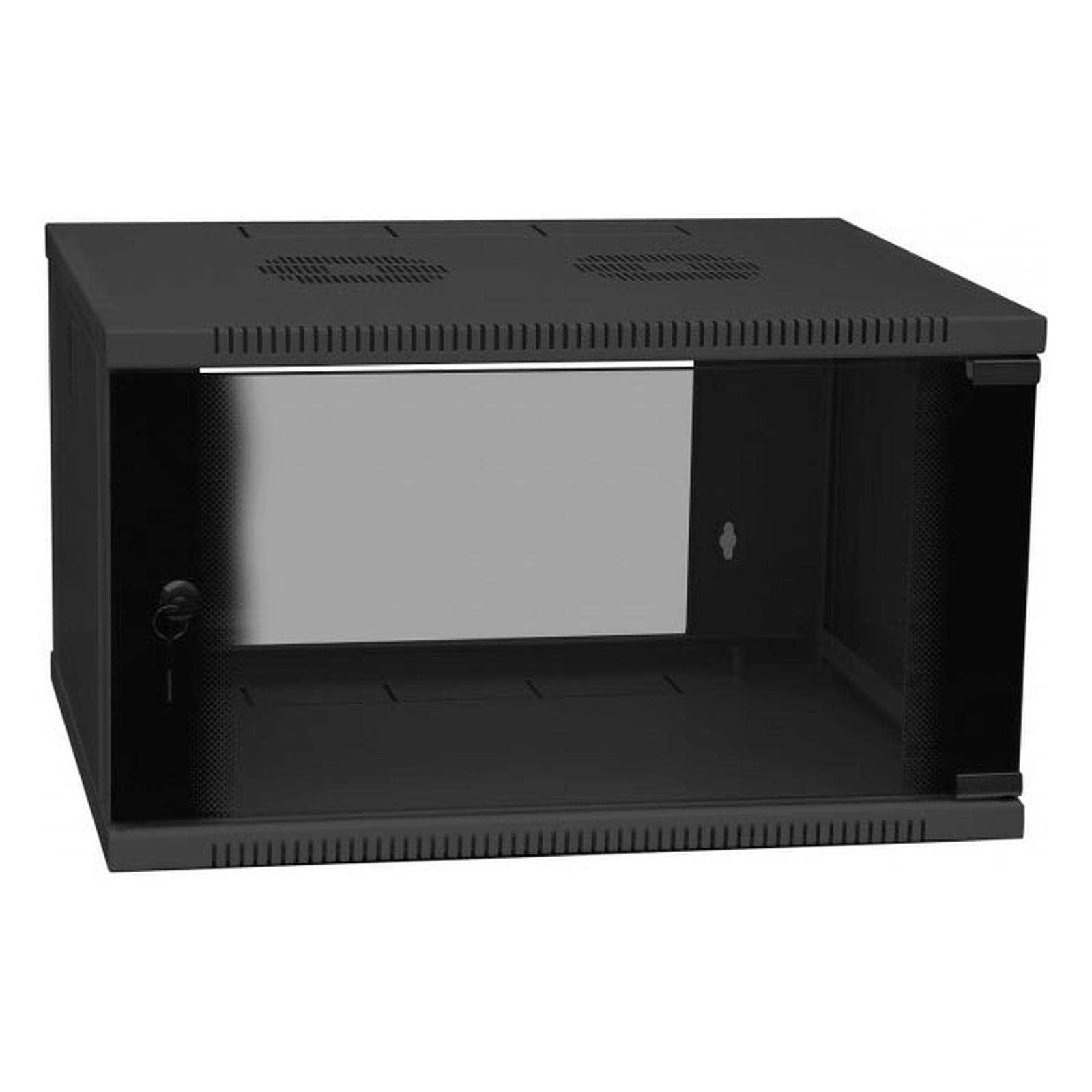 Dexlan coffret réseau - fixe - largeur 19'' - hauteur 9U - profondeur 45 cm - charge utile 35 kg - coloris noir