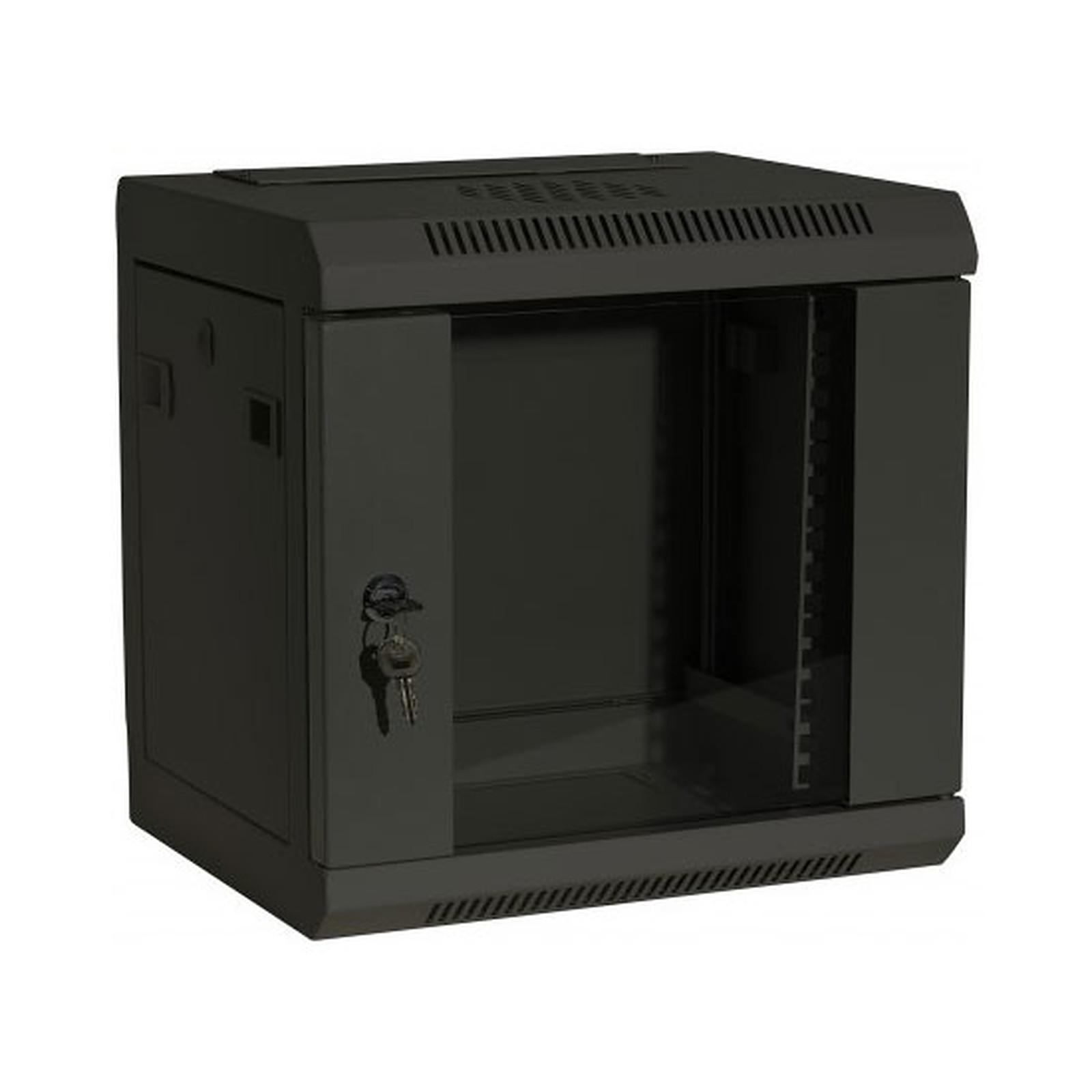 Dexlan coffret réseau - fixe - largeur 10'' - hauteur 6U - profondeur 28 cm - charge utile 10 kg - coloris noir