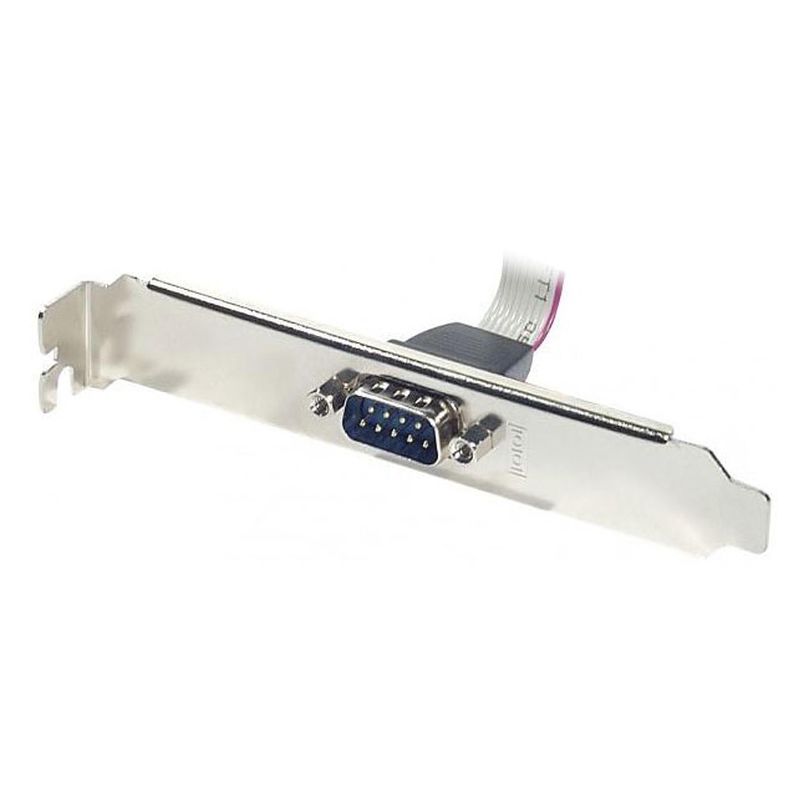 Equerre slot DB9 avec connecteur nappe HE-10 femelle - 10 contacts