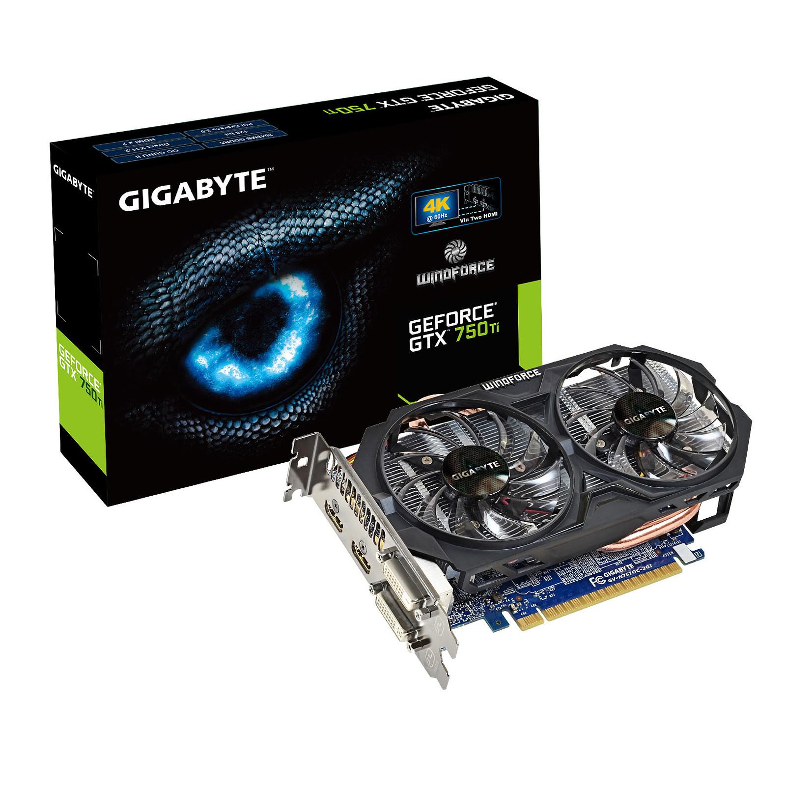 Gigabyte GV-N750TOC-2GI (rev. 1.0) - GeForce GTX 750 Ti 2 Go