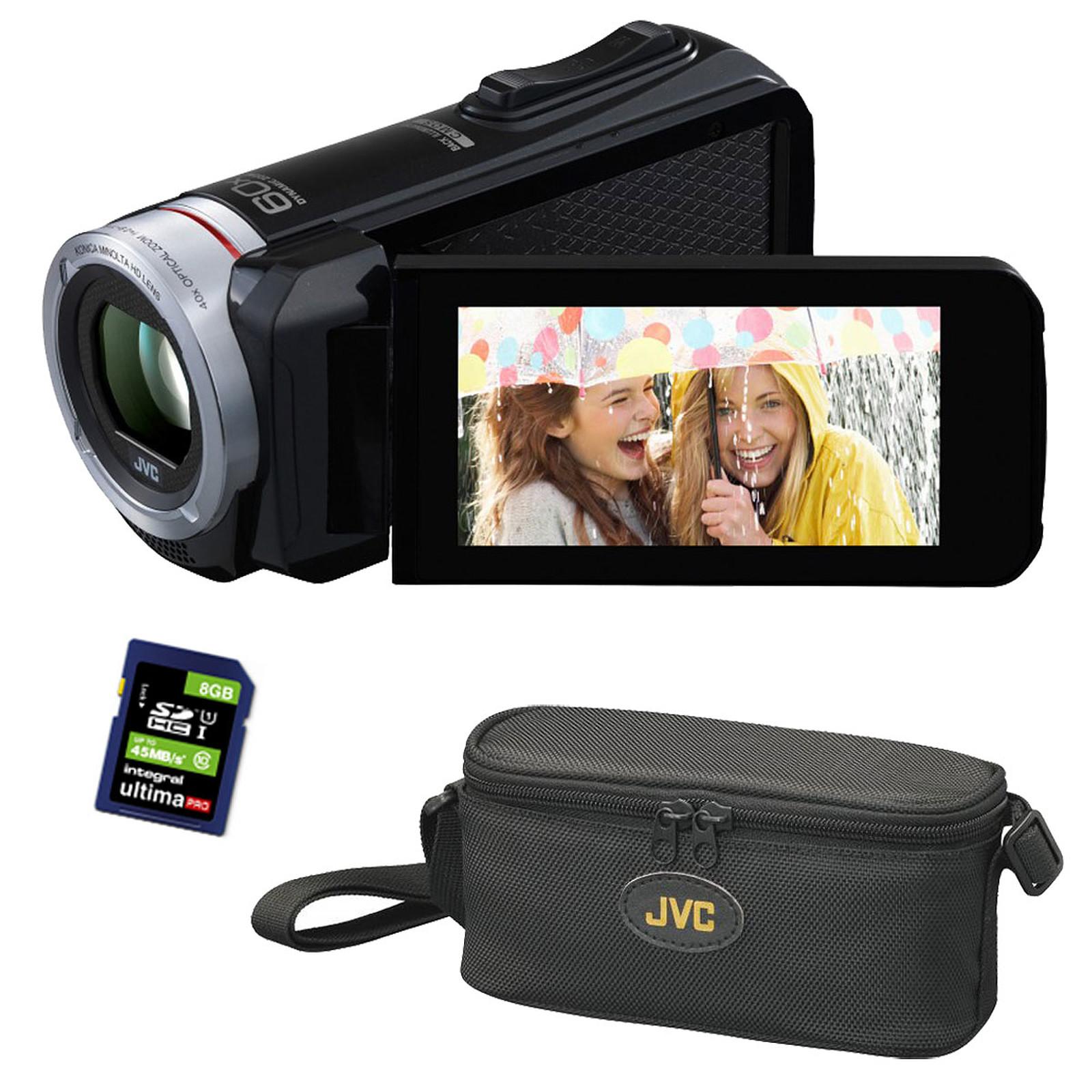 JVC GZ-RX115 Noir + Sacoche CB-VM89 + Carte SD 8 Go