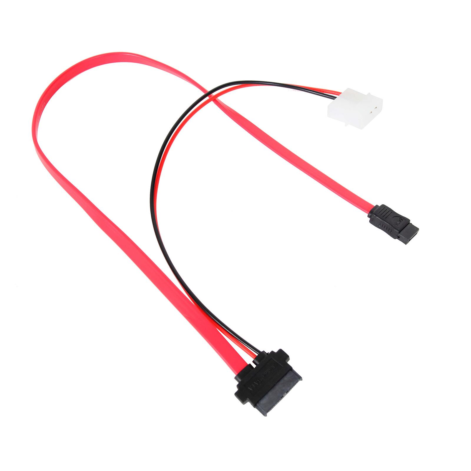 Câble Slim-SATA 2-en-1 avec alimentation Molex (pour lecteur optique slim ou SSD 1.8'')