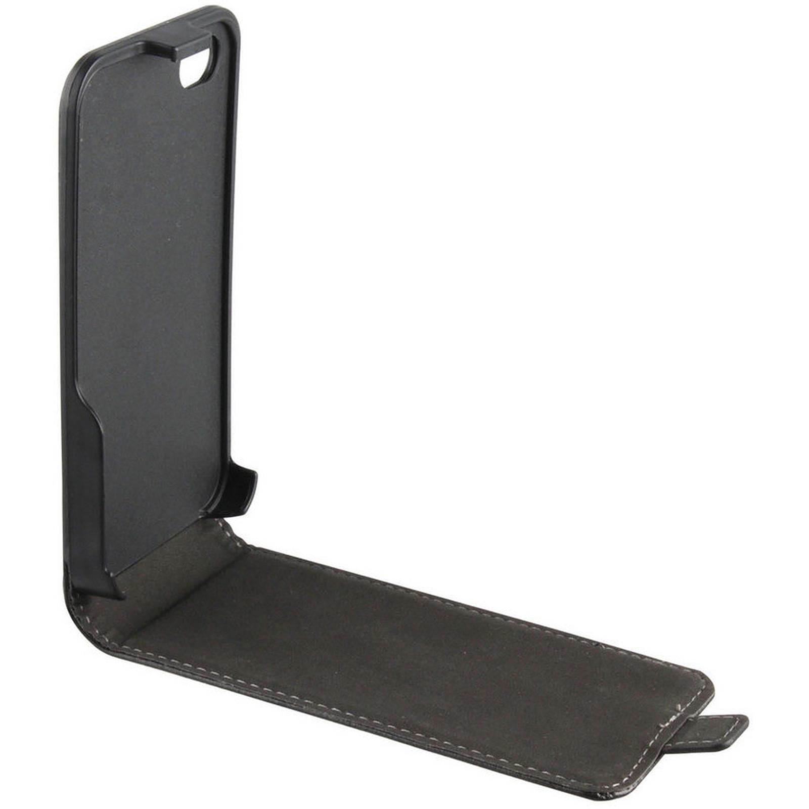 xqisit FlipCover Noir pour iPhone 4/4S