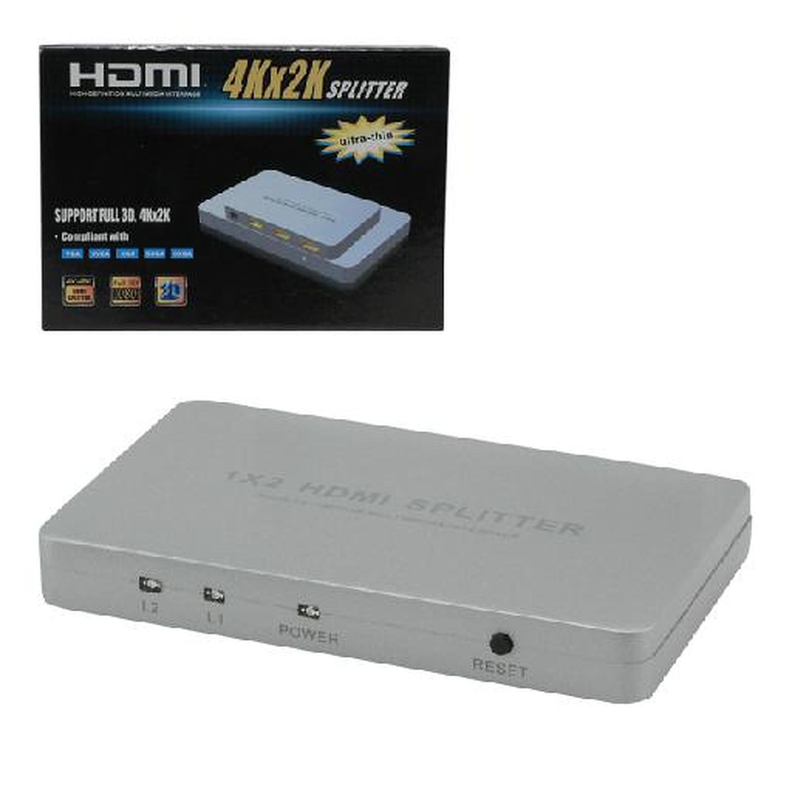 Divisor HDMI 3D 4K (1 entrada a 2 salidas)
