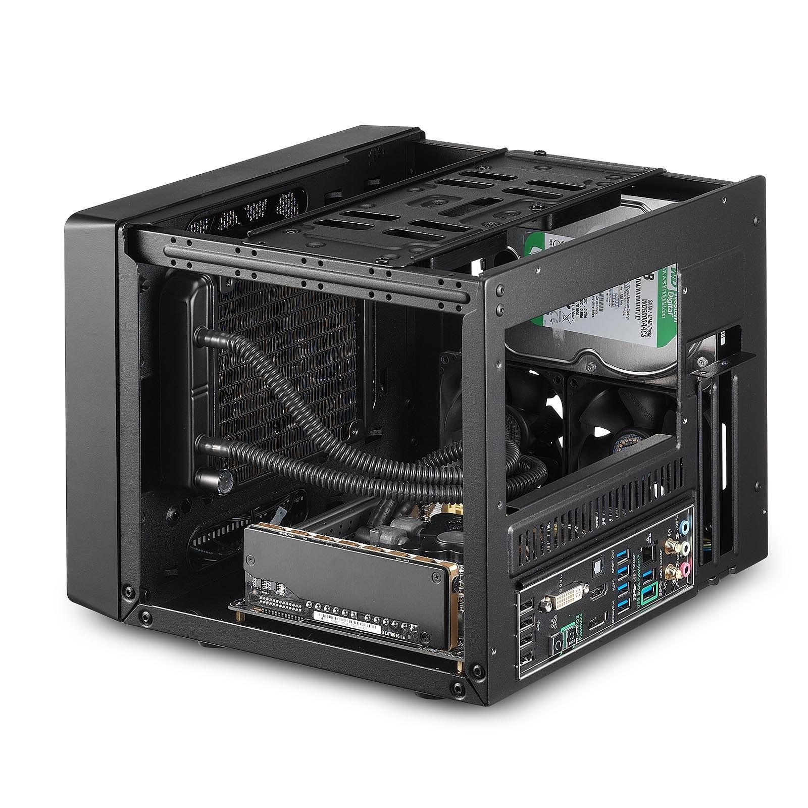 Cooler Master Elite 110A Negro Carcasa de Ordenador Caja de Ordenador PC, Aluminio, De pl/ástico, Acero, Mini-ITX, Negro, Hogar//Oficina, 7,6 cm