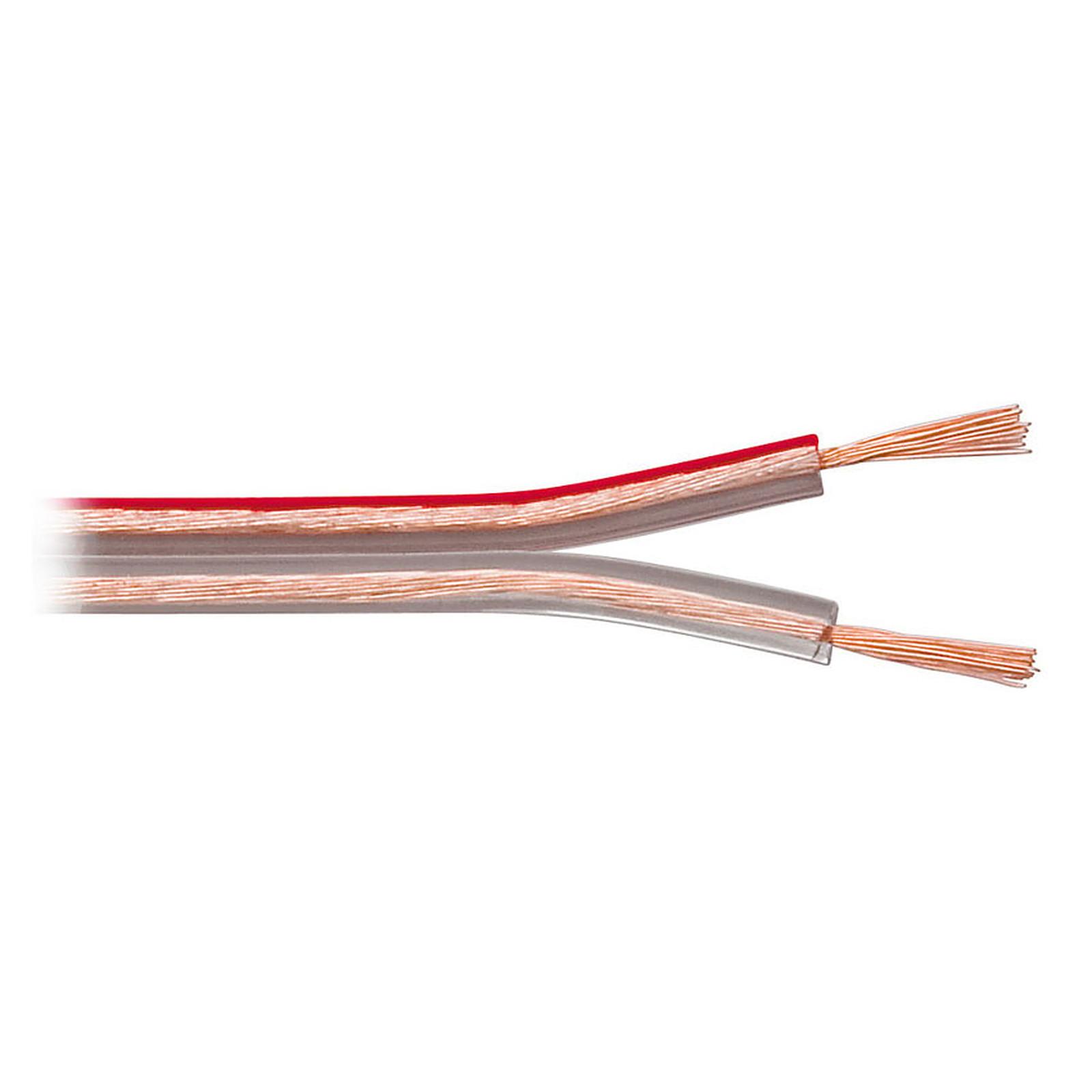 Câble Haut-Parleur 0.75 mm² en cuivre OFC - rouleau de 10 mètres