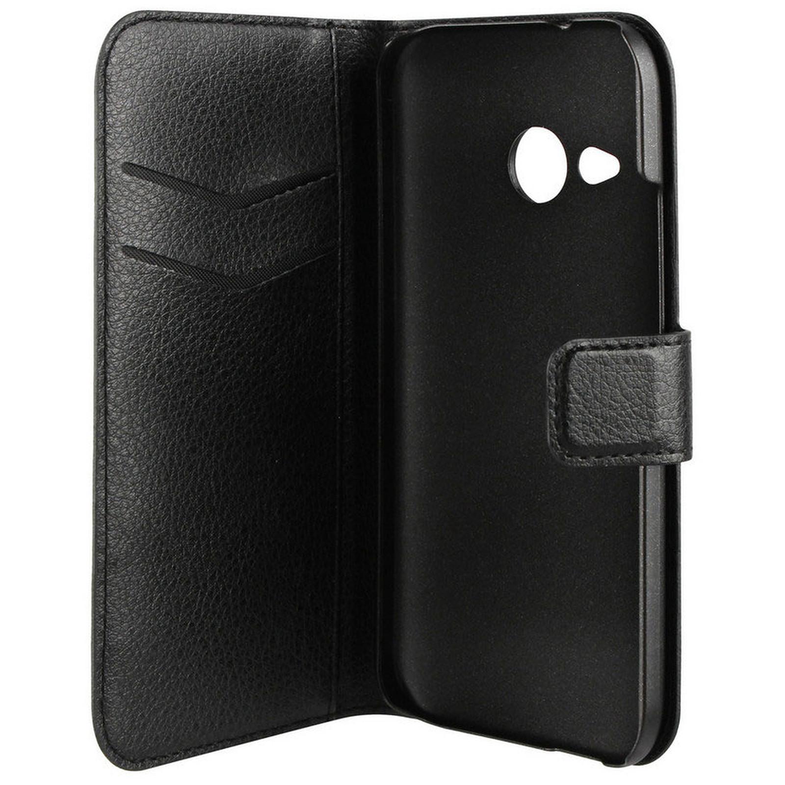 xqisit Etui Wallet Slim Noir pour HTC One M8 mini