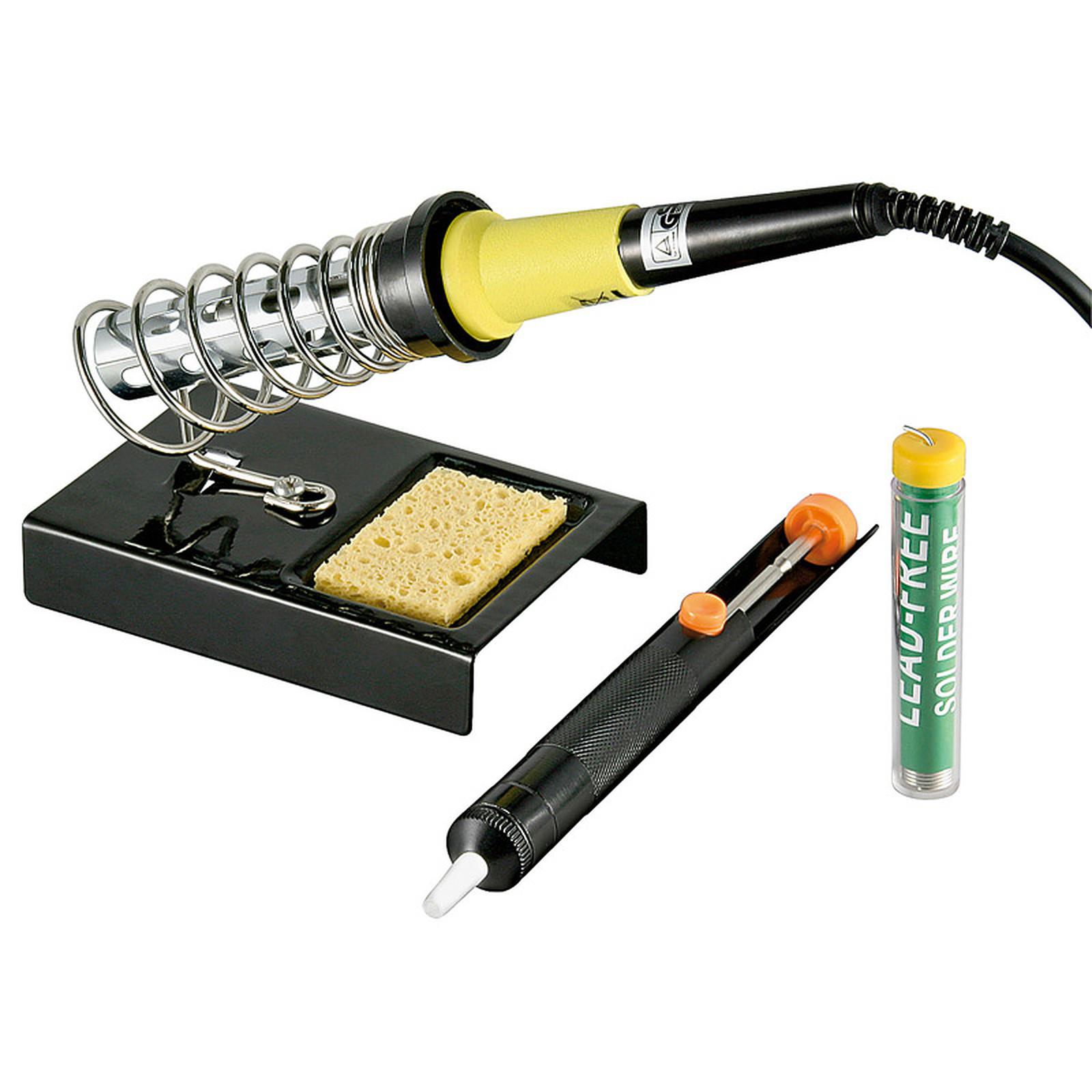 Kit de soldadura (soldador + soporte + pasta para soldar + bomba)
