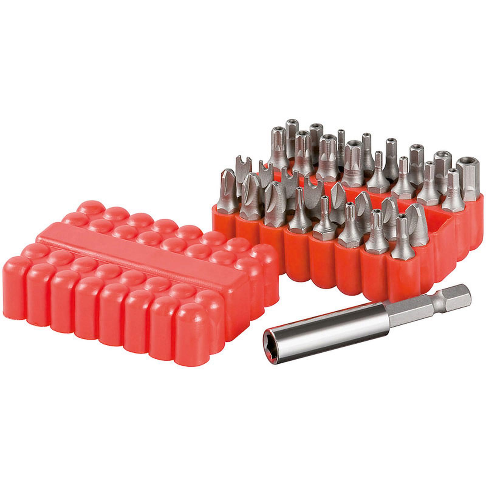 Kit de 33 cabezas para destornillador modulable