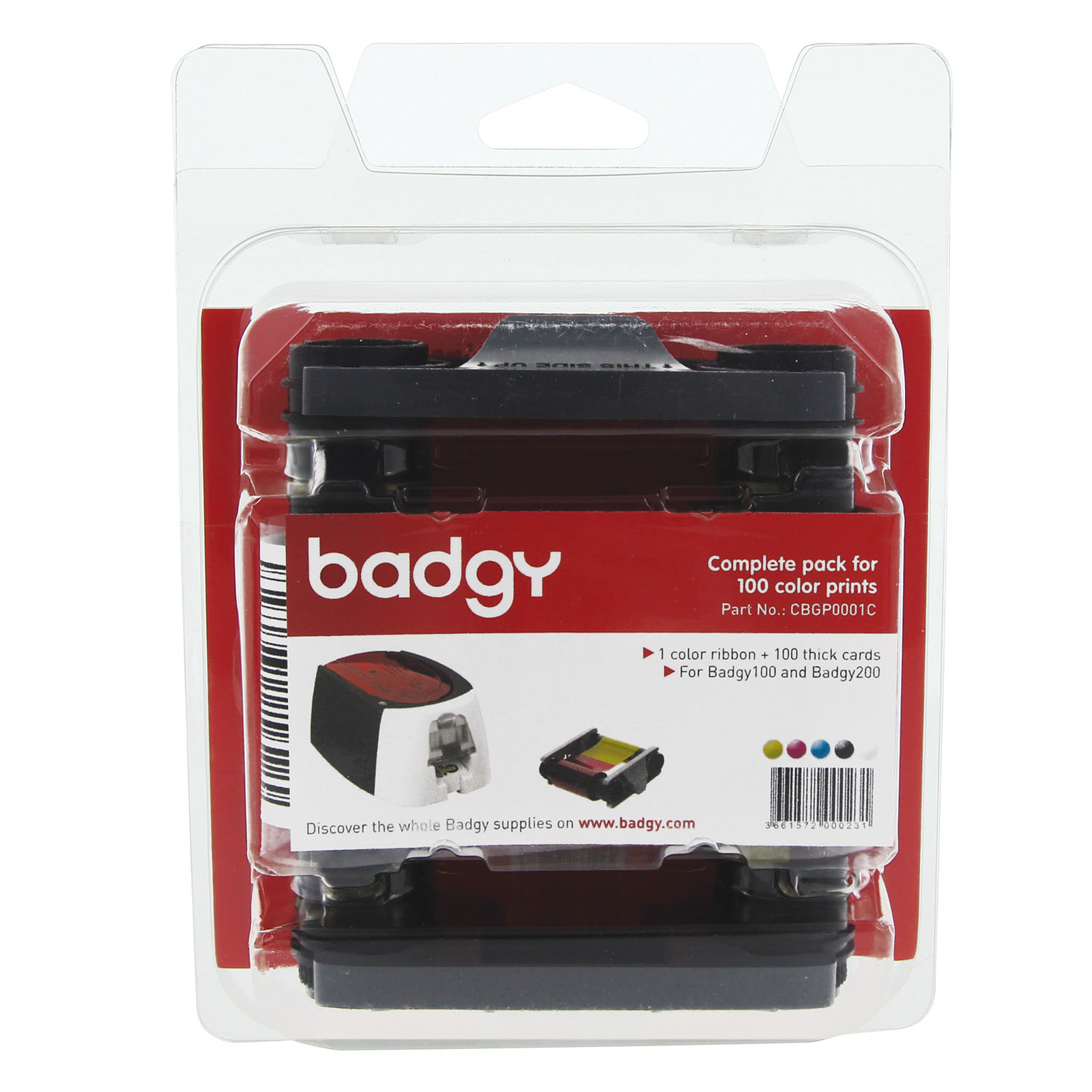 Evolis Badgy  Kit complet 100 impressions