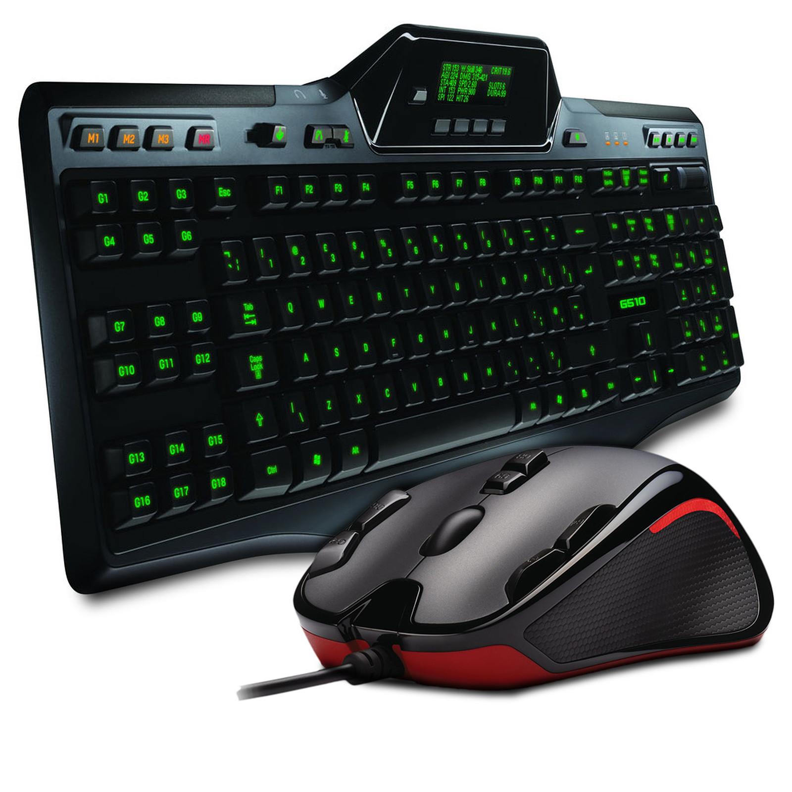 Logitech Gaming Keyboard G510 + G300 Gaming Mouse