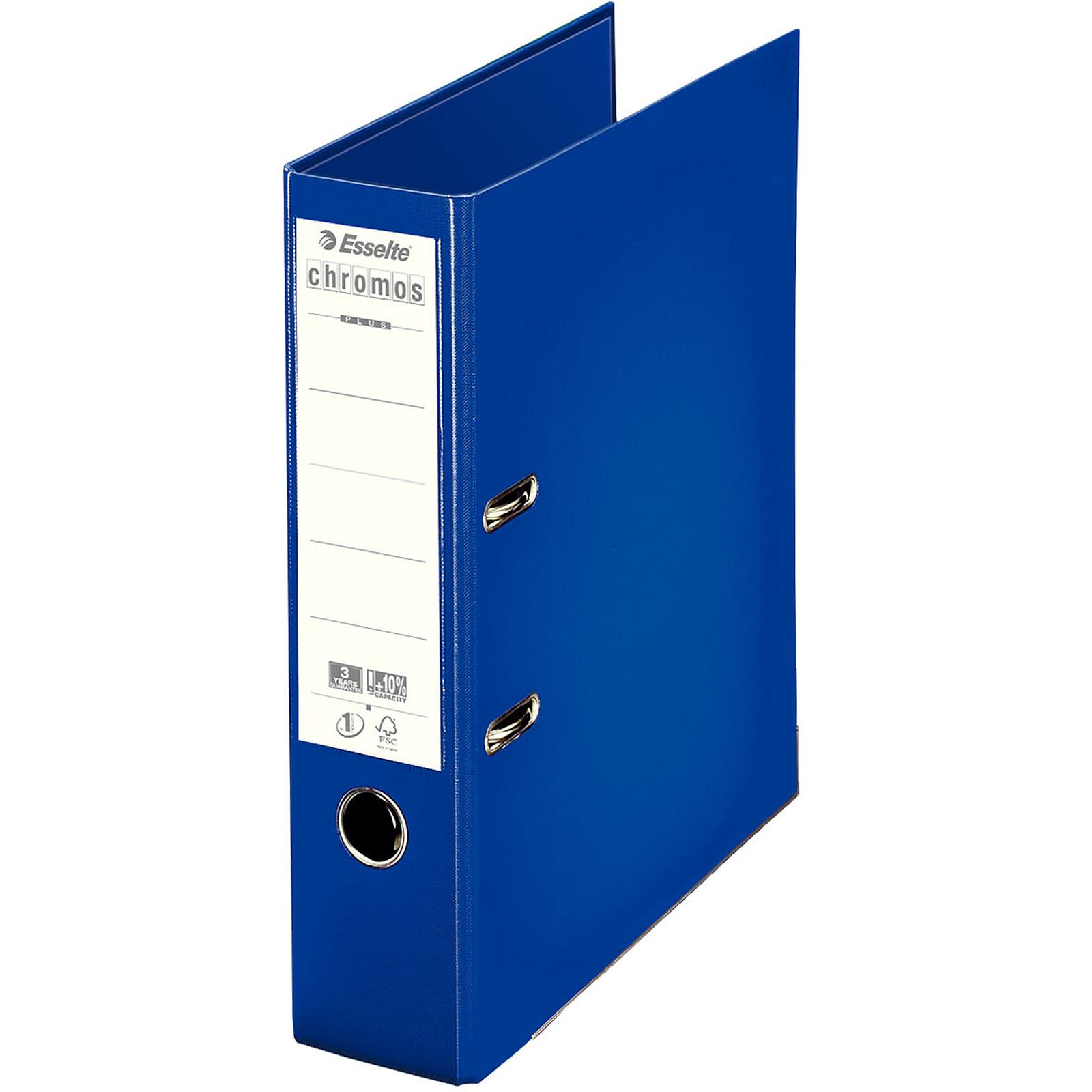 Esselte Classeur à levier Chromos Plus 80mm Bleu