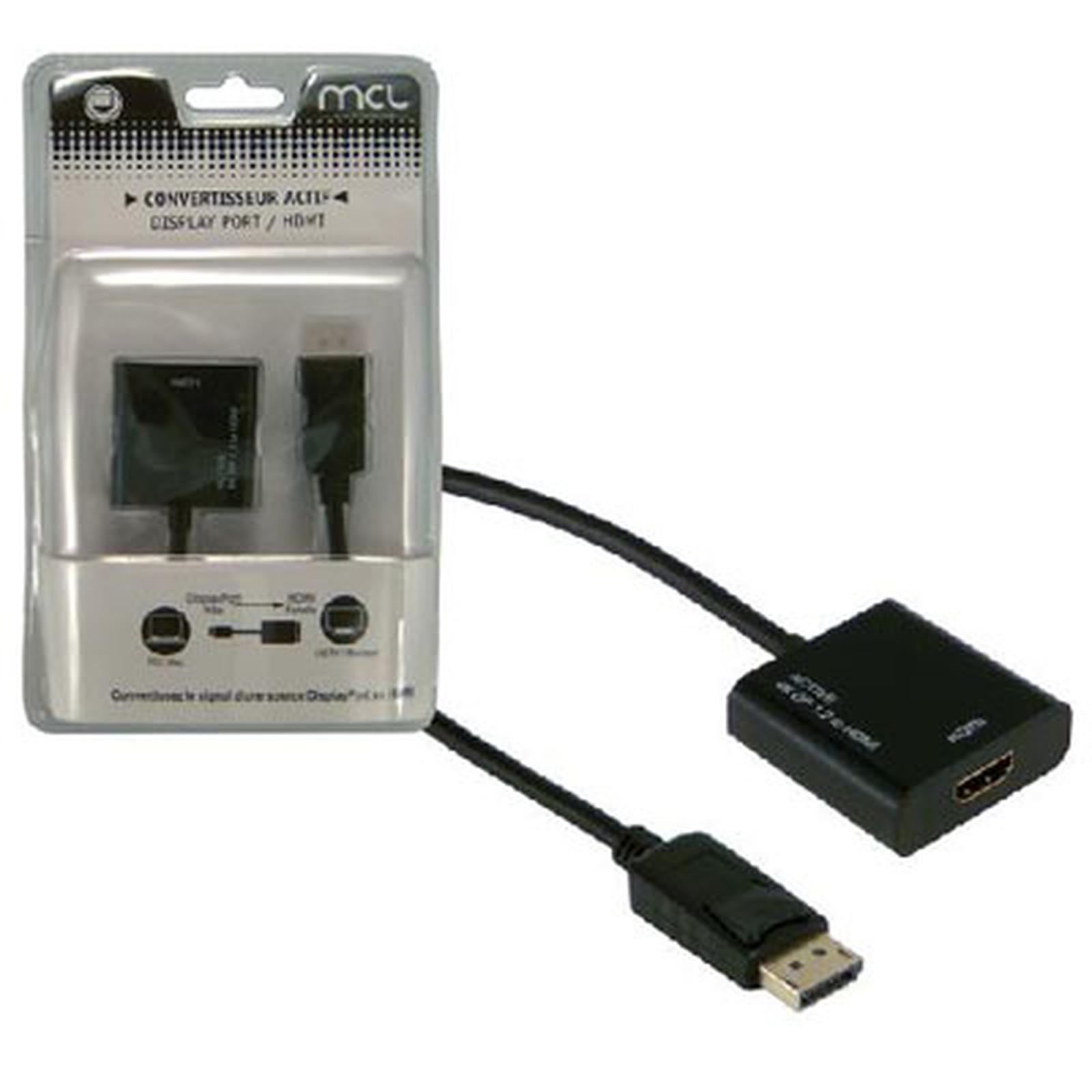 Adaptador activo DisplayPort macho / HDMI hembra (compatible con 4K y 3D)