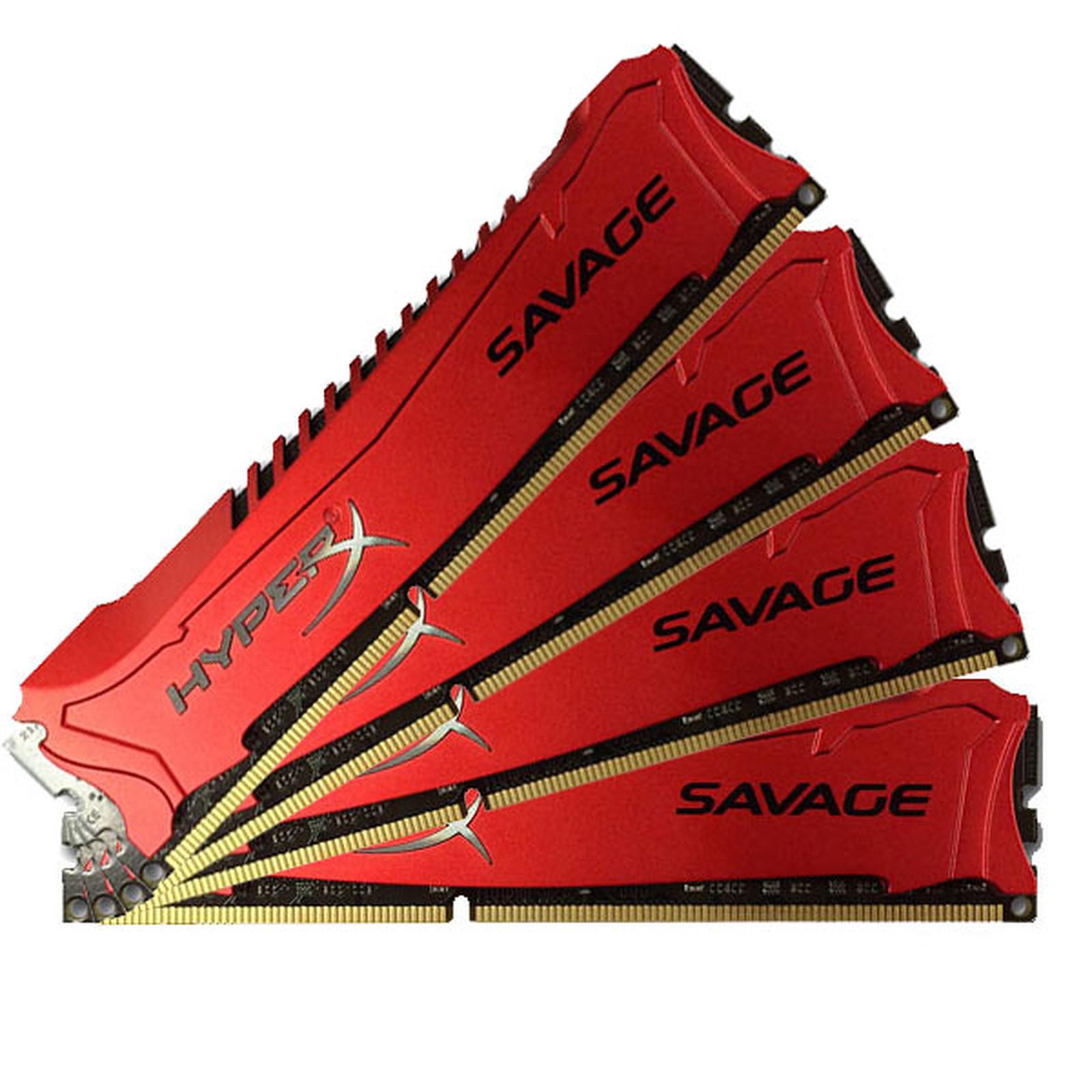 HyperX Savage 32 Go (4 x 8 Go) DDR3 1600 MHz XMP CL9