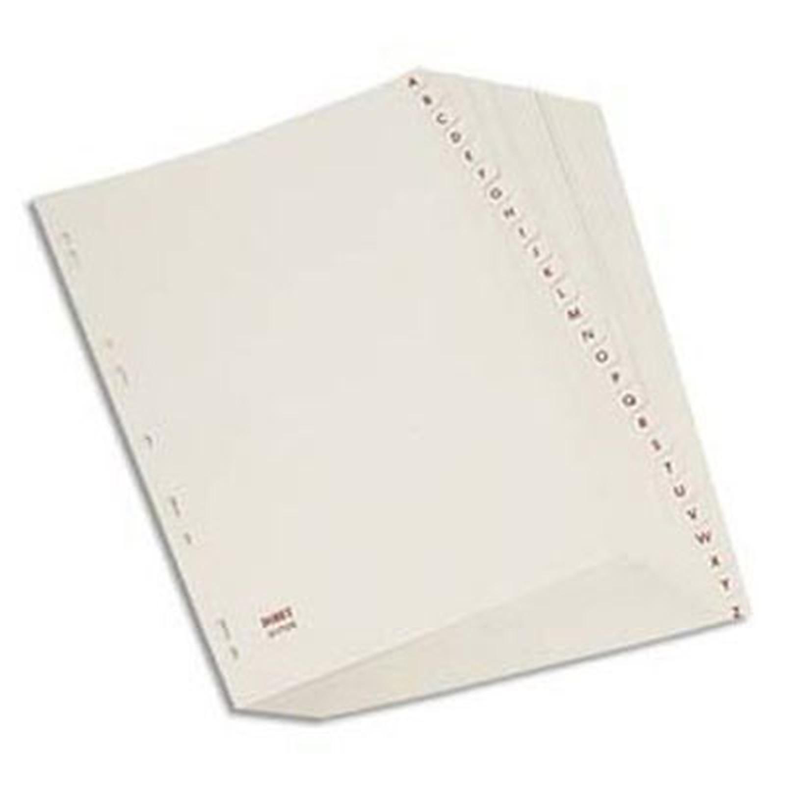 Elba Intercalaires Format A4 26 touches alphabétiques