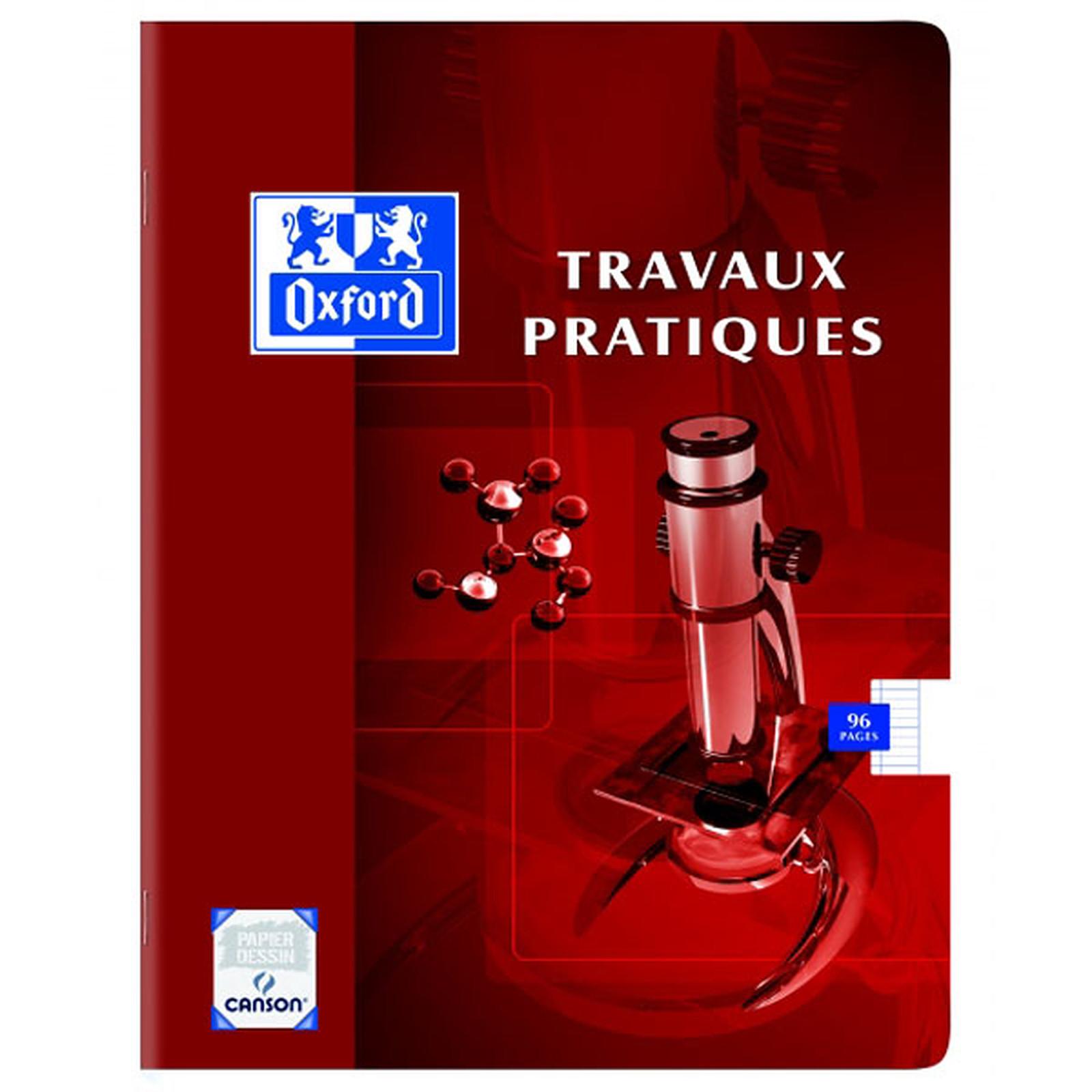 Oxford Cahier Travaux Pratiques 96 Pages 17 X 22 Cm Grands