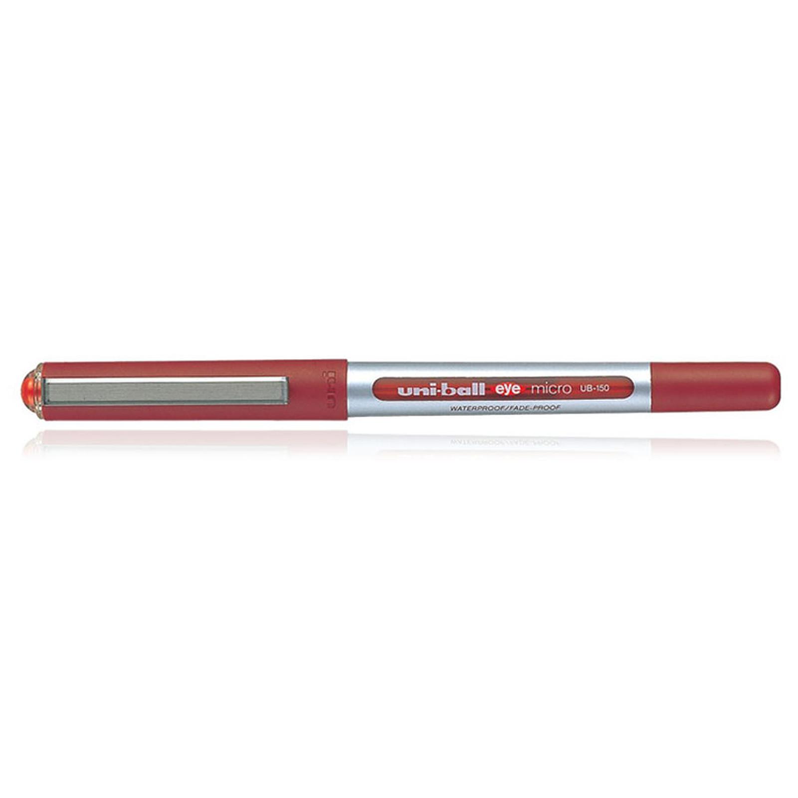 Uni-Ball Eye Stylo roller pointe métal ultra-fine 0.5 mm Rouge