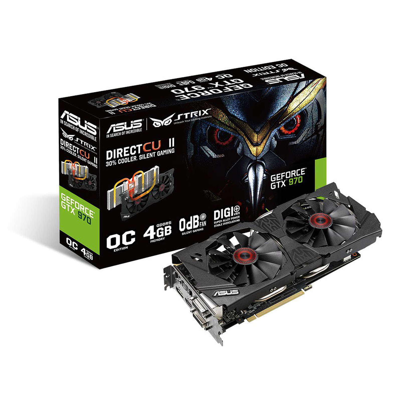 ASUS STRIX GTX970-DC2OC-4GD5 - GeForce GTX 970 4 Go