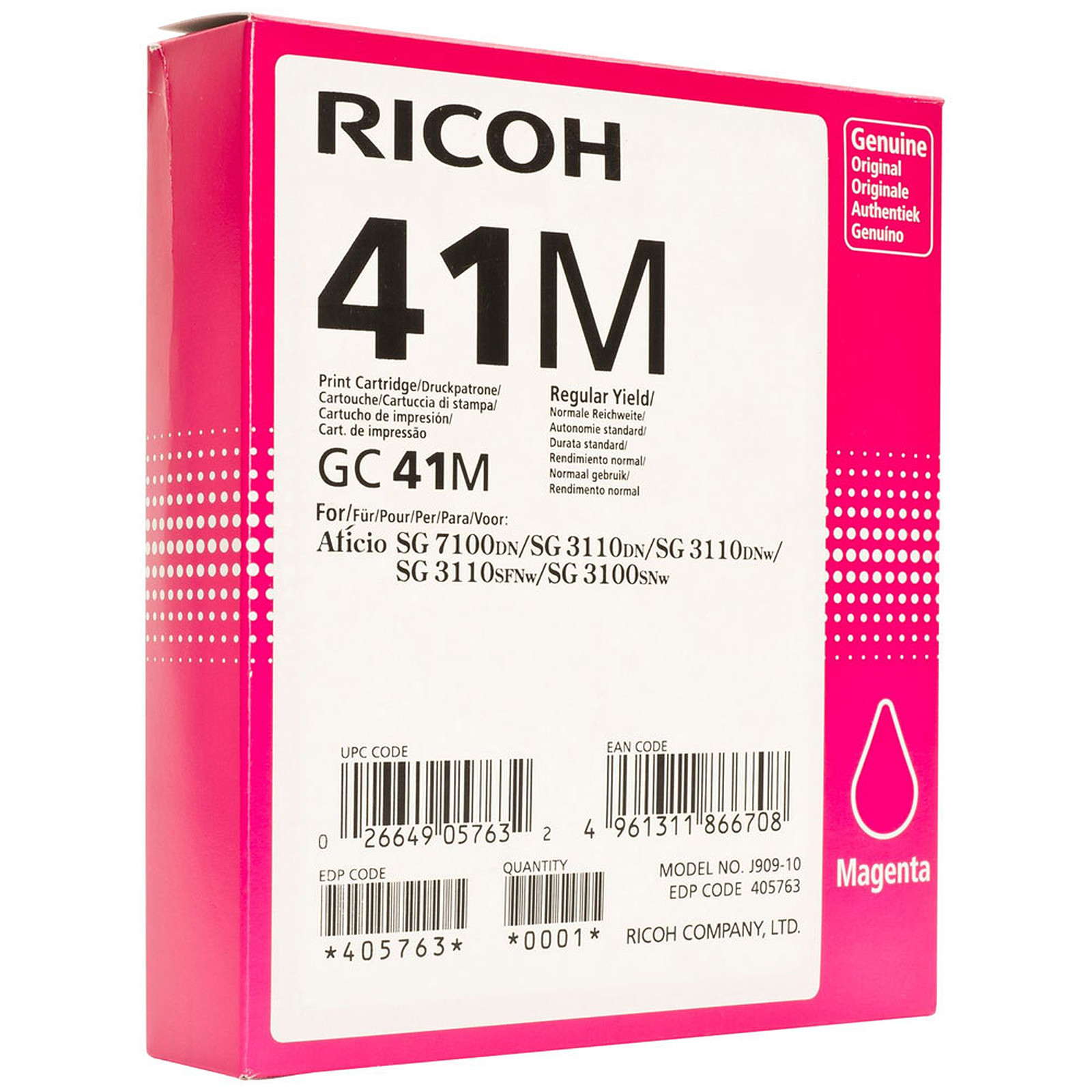 Ricoh GC41M Magenta - 405763
