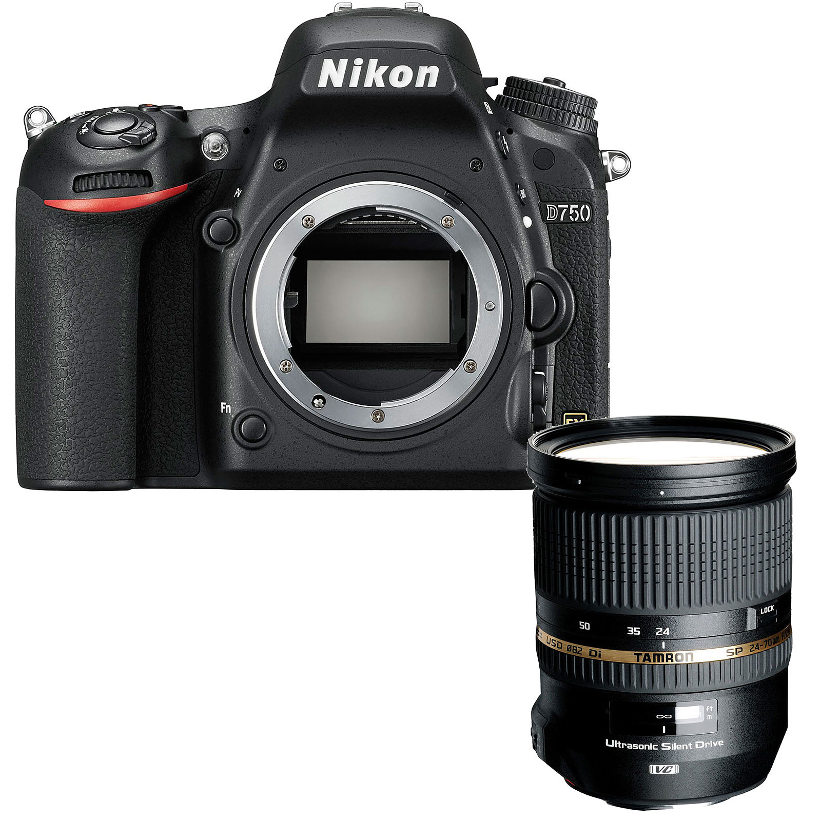 Nikon D750 + Tamron SP 24-70 mm F/2,8 Di VC USD