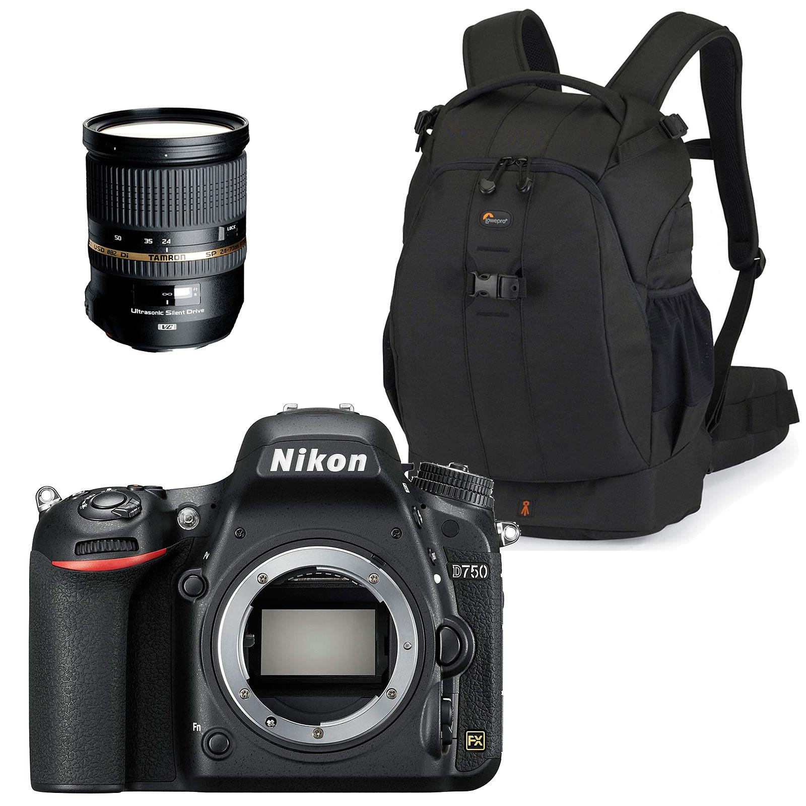 Nikon D750 + Tamron SP 24-70 mm F/2,8 Di VC USD + Lowepro Flipside 400 AW