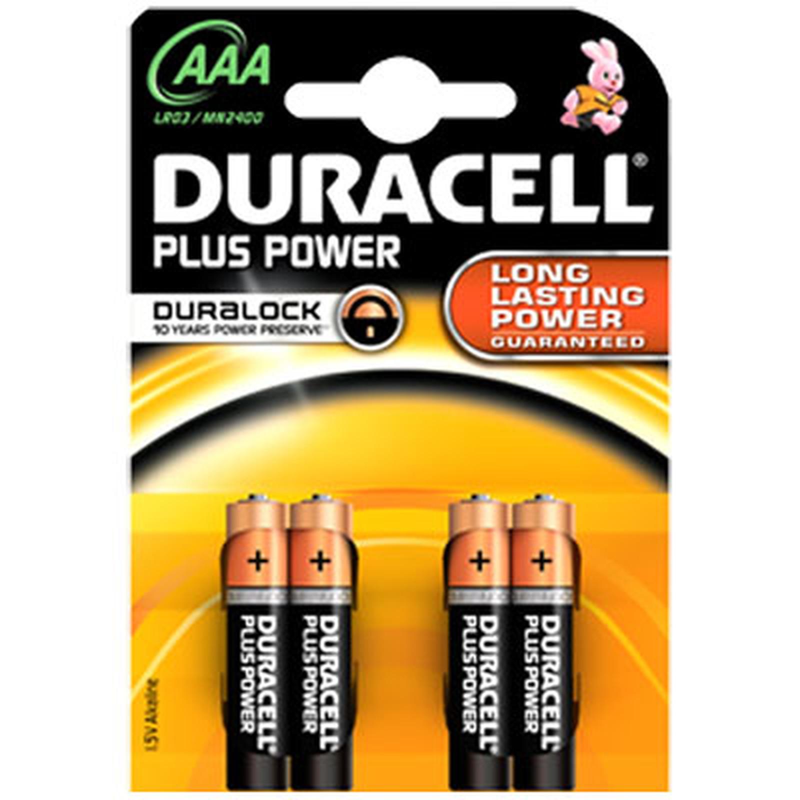 Duracell Plus Power AAA (par 4)