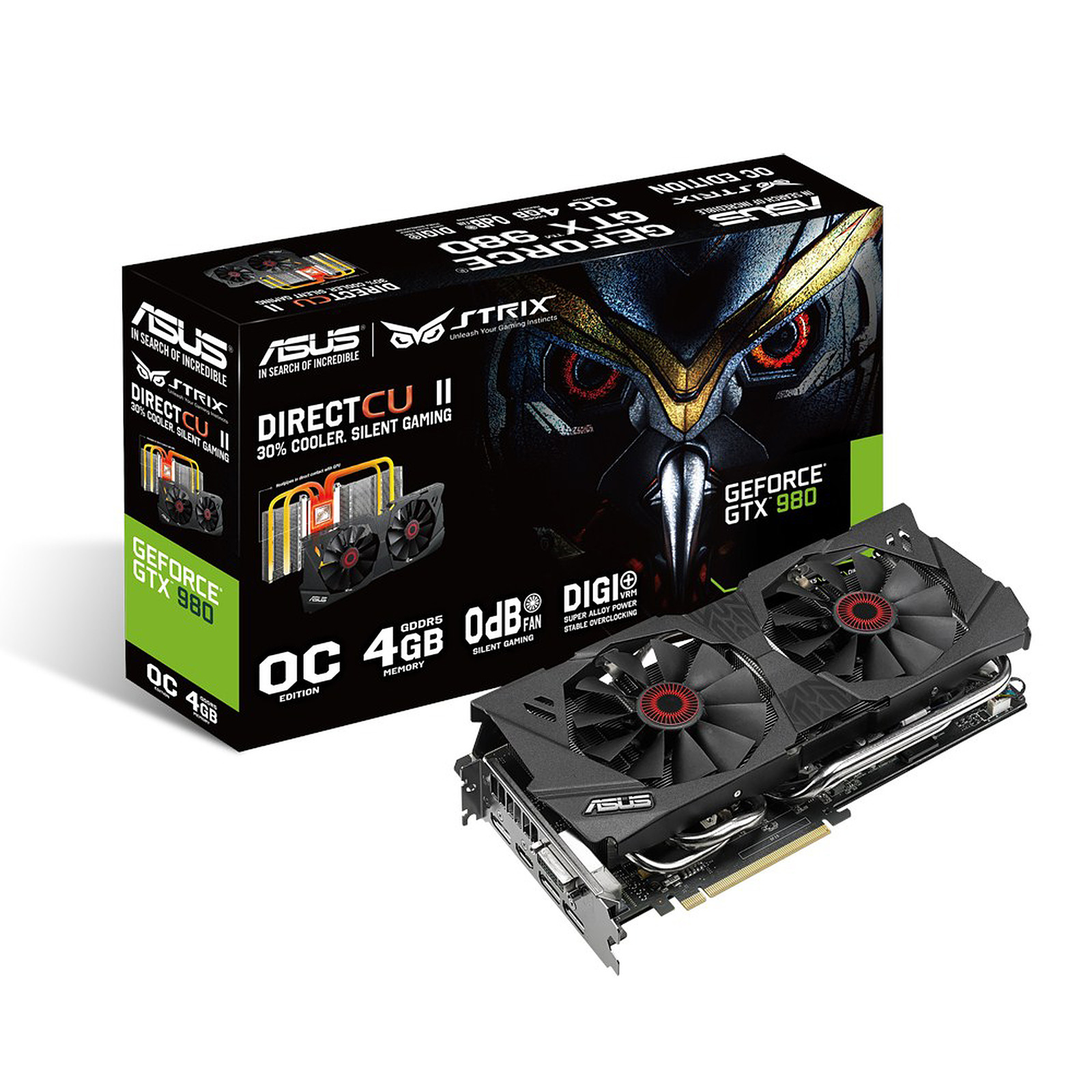 ASUS STRIX-GTX980-DC2OC-4GD5 - GeForce GTX 980 4 Go