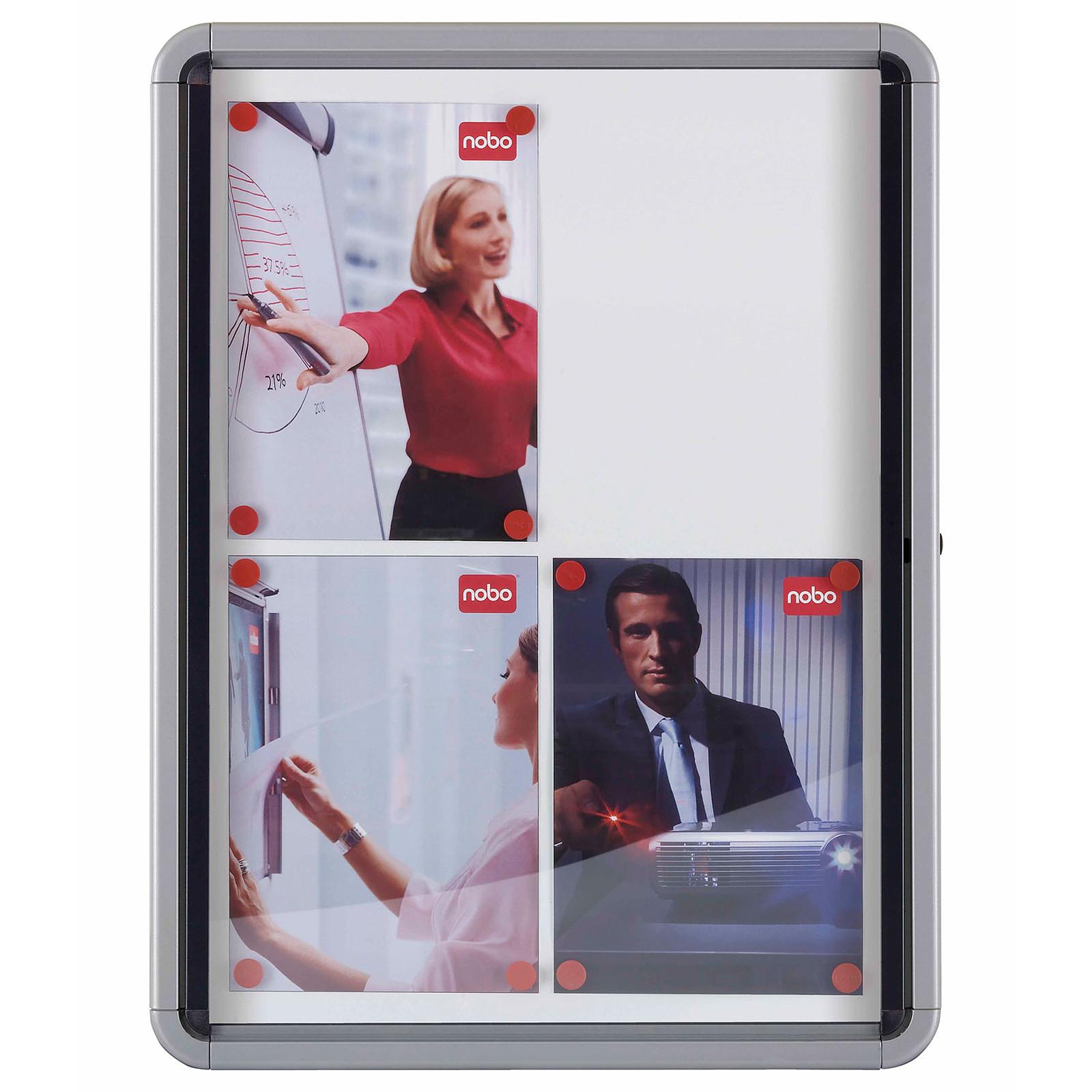 Nobo vitrine d`intérieur fond magnétique 9xA4