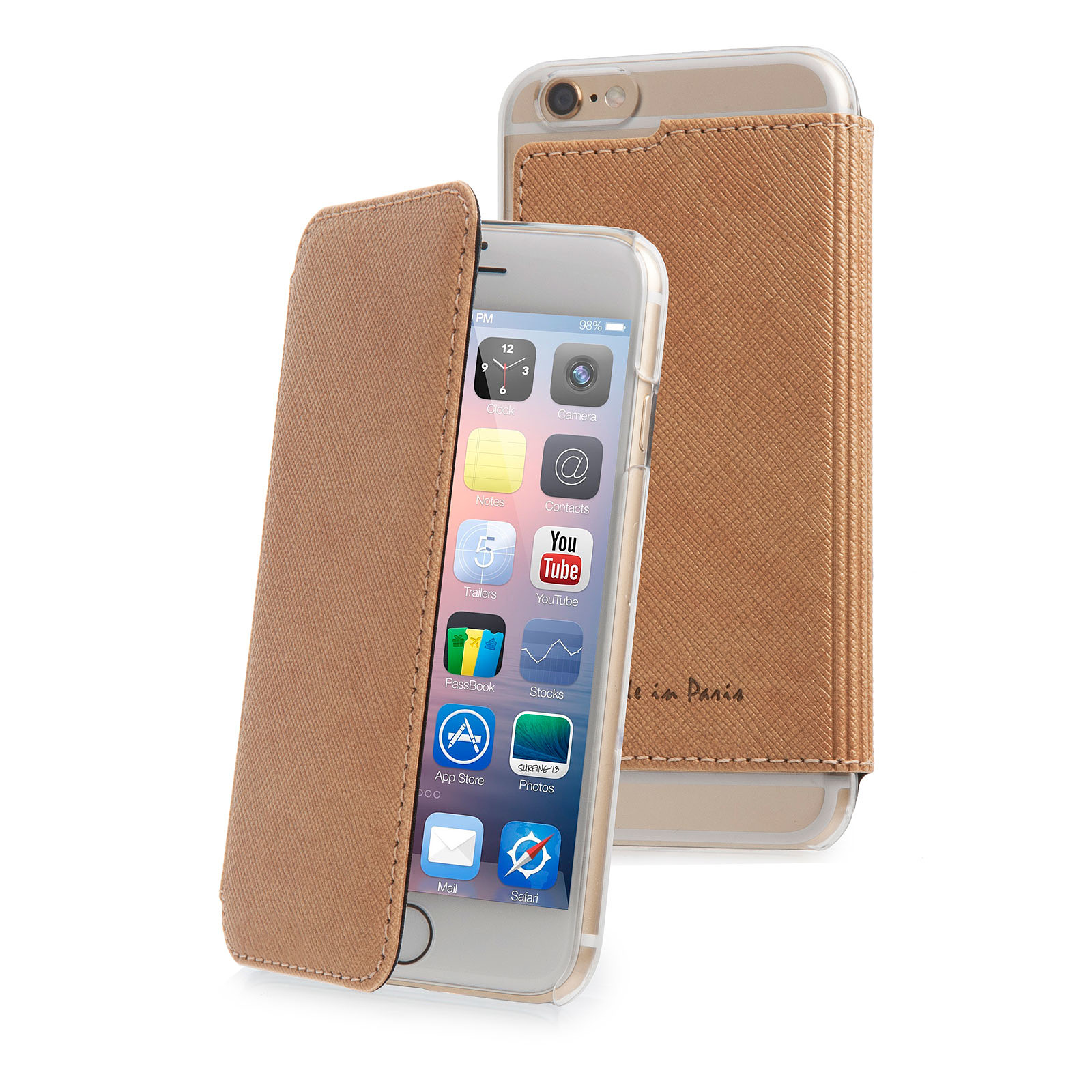 Muvit Crystal Folio Made in Paris Champagne pour Apple iPhone 6 Plus