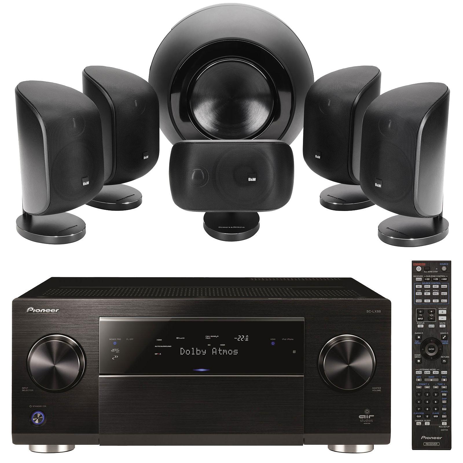 Pioneer SC-LX88-K Noir + B&W MT-60 Noir