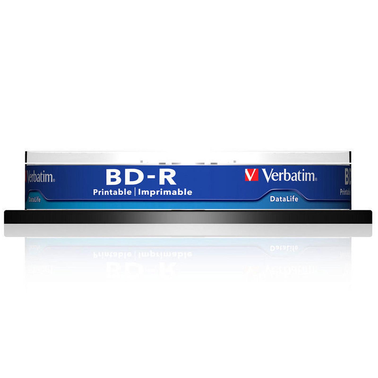 Verbatim BD-R SL 25 Go vitesse 6x imprimable (par 10, spindle)