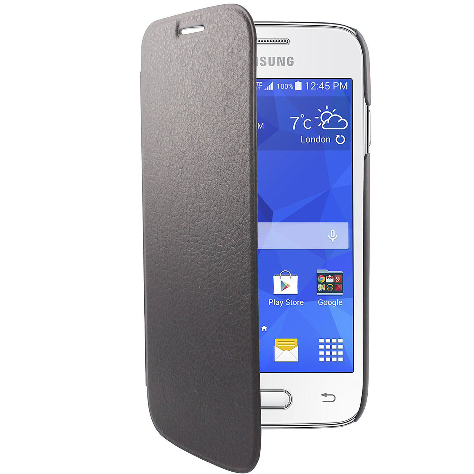 Swiss Charger Etui Folio Slim Noir Samsung Galaxy Ace 4