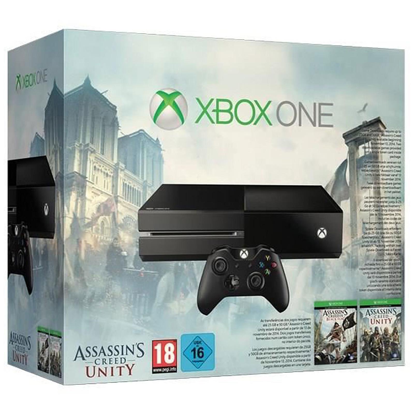 Microsoft Xbox One + Assassin's Creed (Assassin's Creed Unity + Assassin's Creed IV Black Flag)*