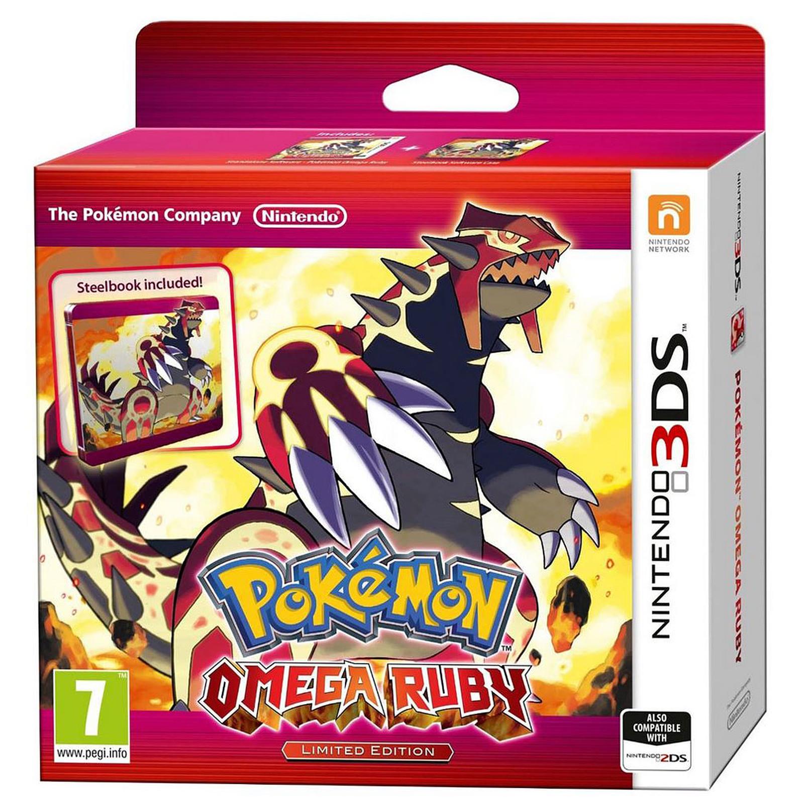 Pokémon : Rubis Oméga + Steelbook Édition Limitée (Nintendo 3DS/2DS)