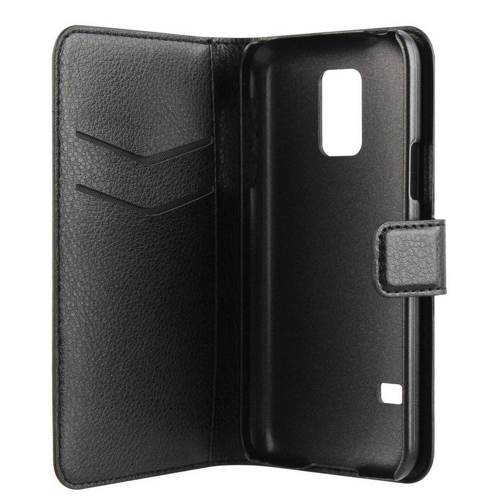 xqisit Etui Wallet Galaxy S5 Mini Noir