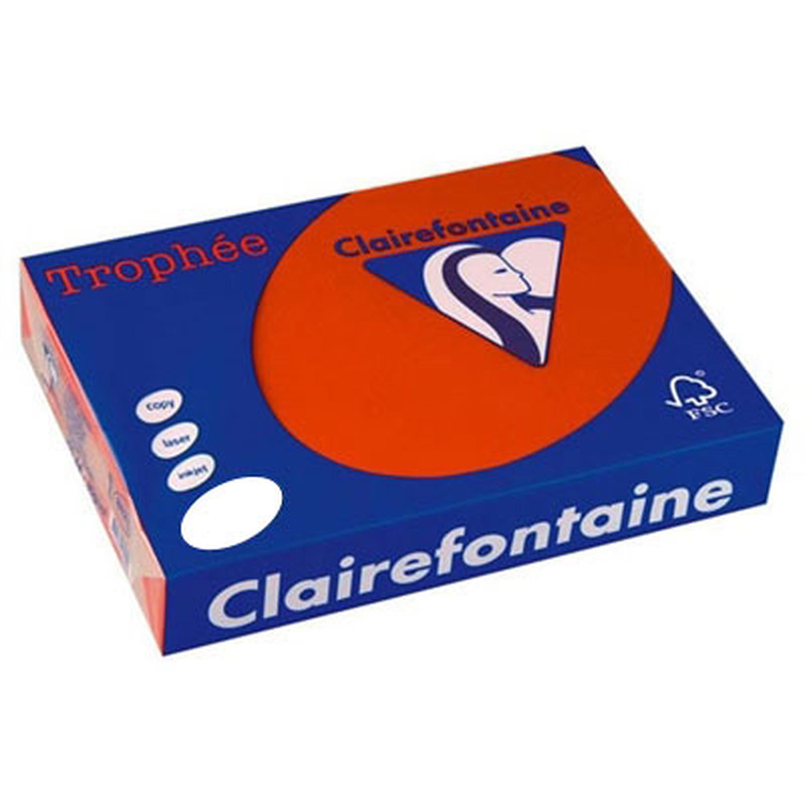 Clairefontaine Trophée Ramette de papier 250 feuilles A4 160g Groseille