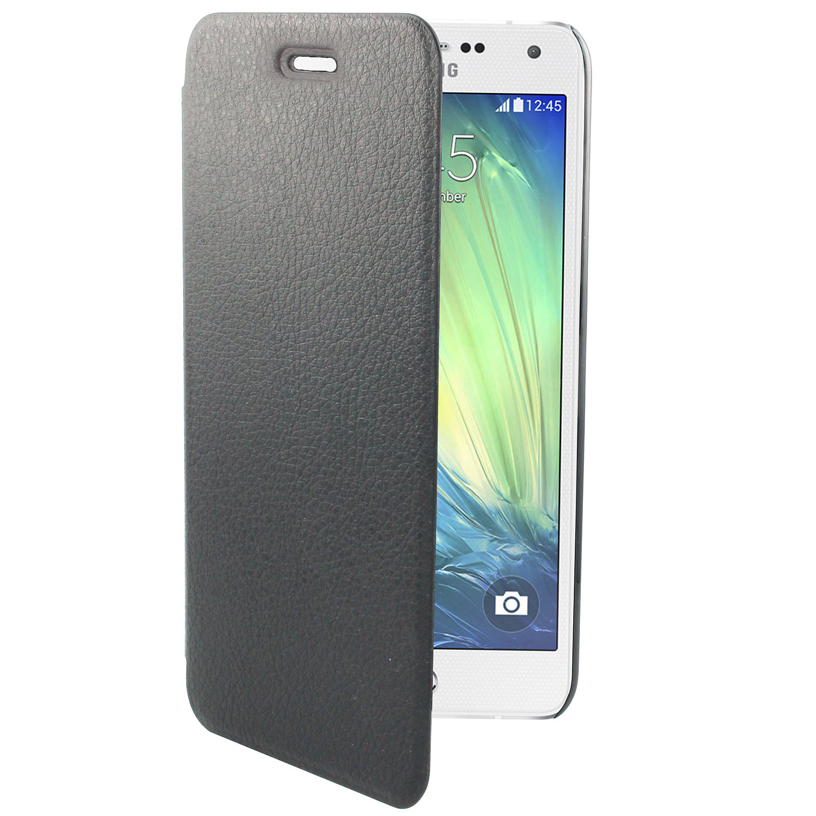 Swiss Charger Etui Folio Slim Noir pour Samsung Galaxy A5