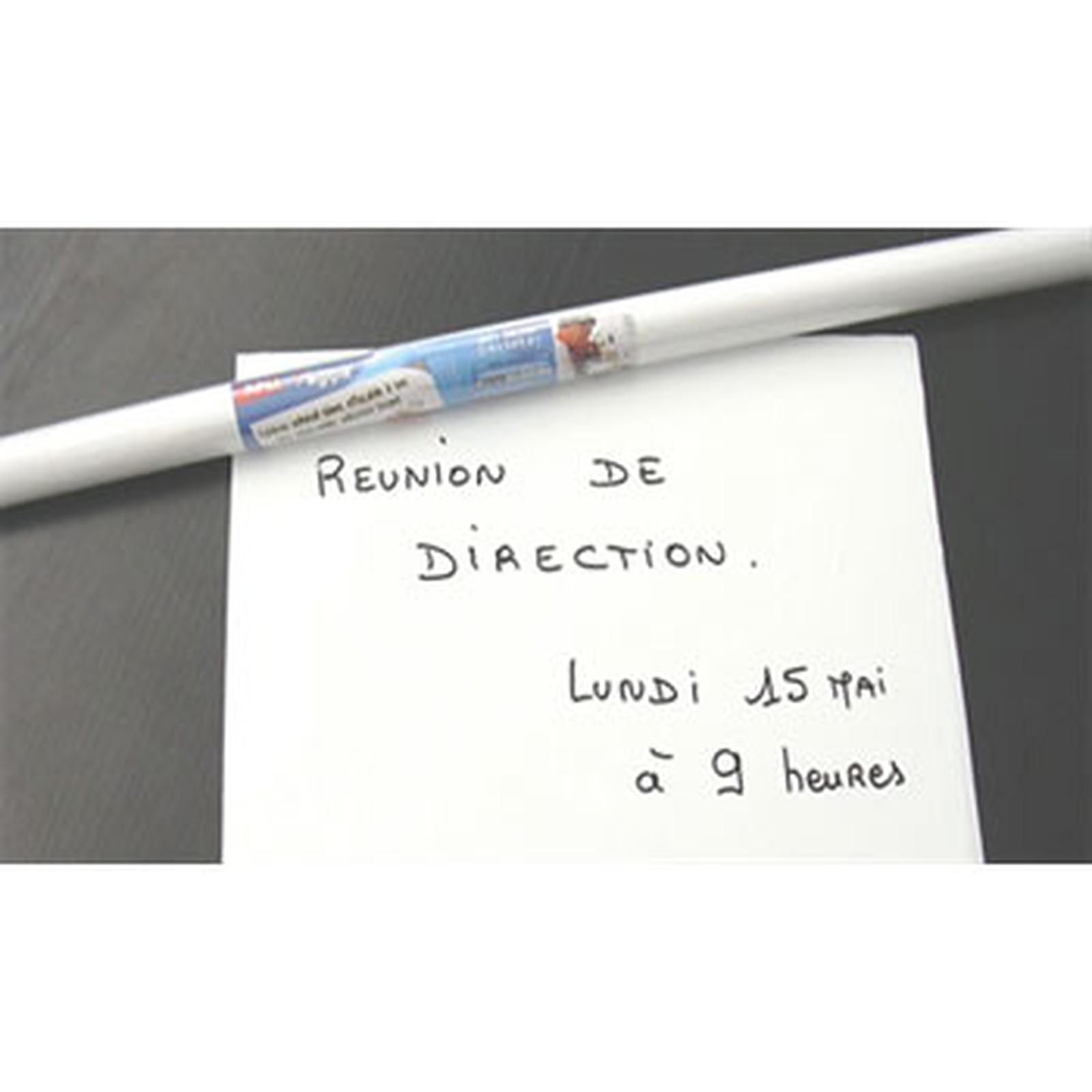 Agipa rouleau adhésif blanc effaçable 100 x 200 cm