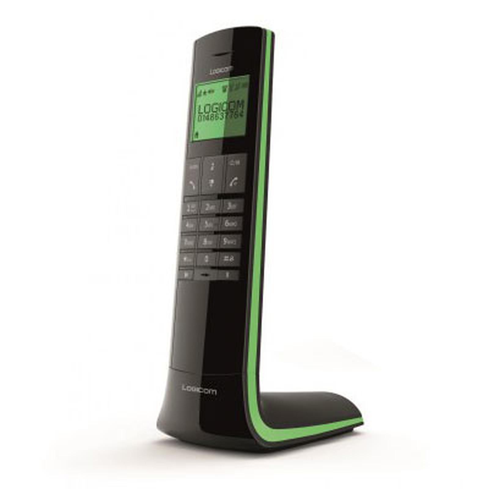 logicom luxia 150 noir vert t l phone sans fil logicom sur. Black Bedroom Furniture Sets. Home Design Ideas