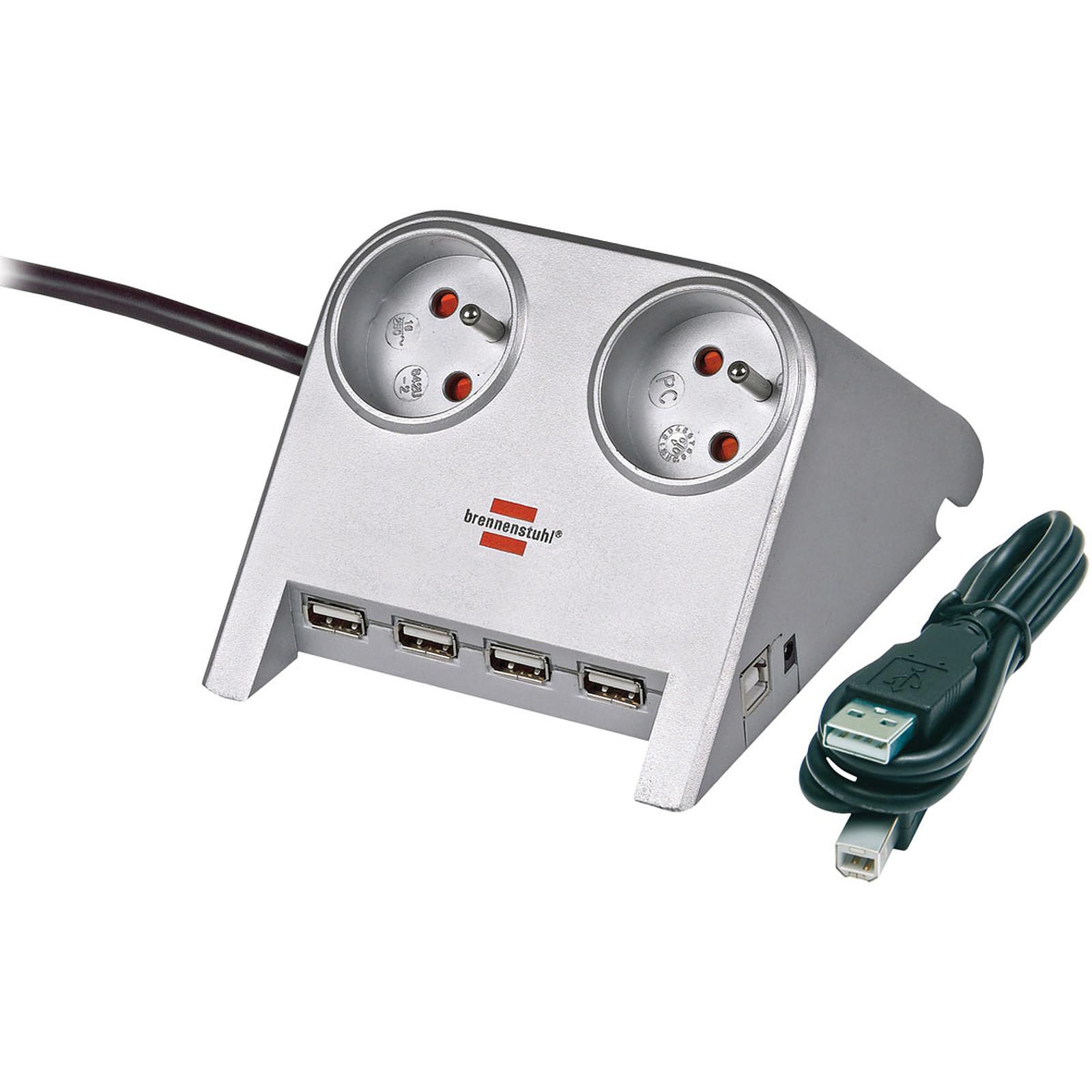 Brennenstuhl Desktop-Power (2 tomas) + USB-Hub 2.0