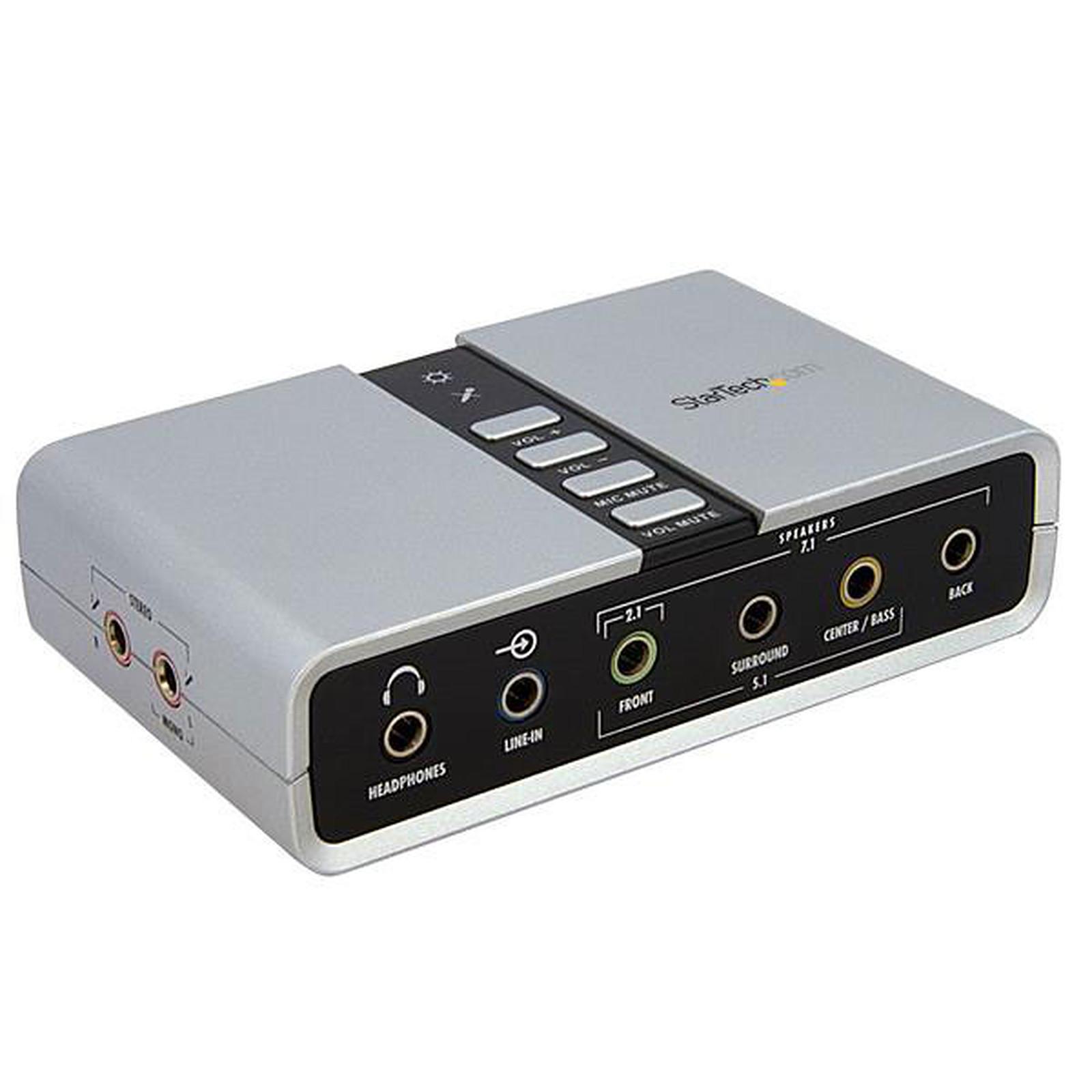 carte son usb externe StarTech.Carte son / Adaptateur audio USB 7.1 avec audio