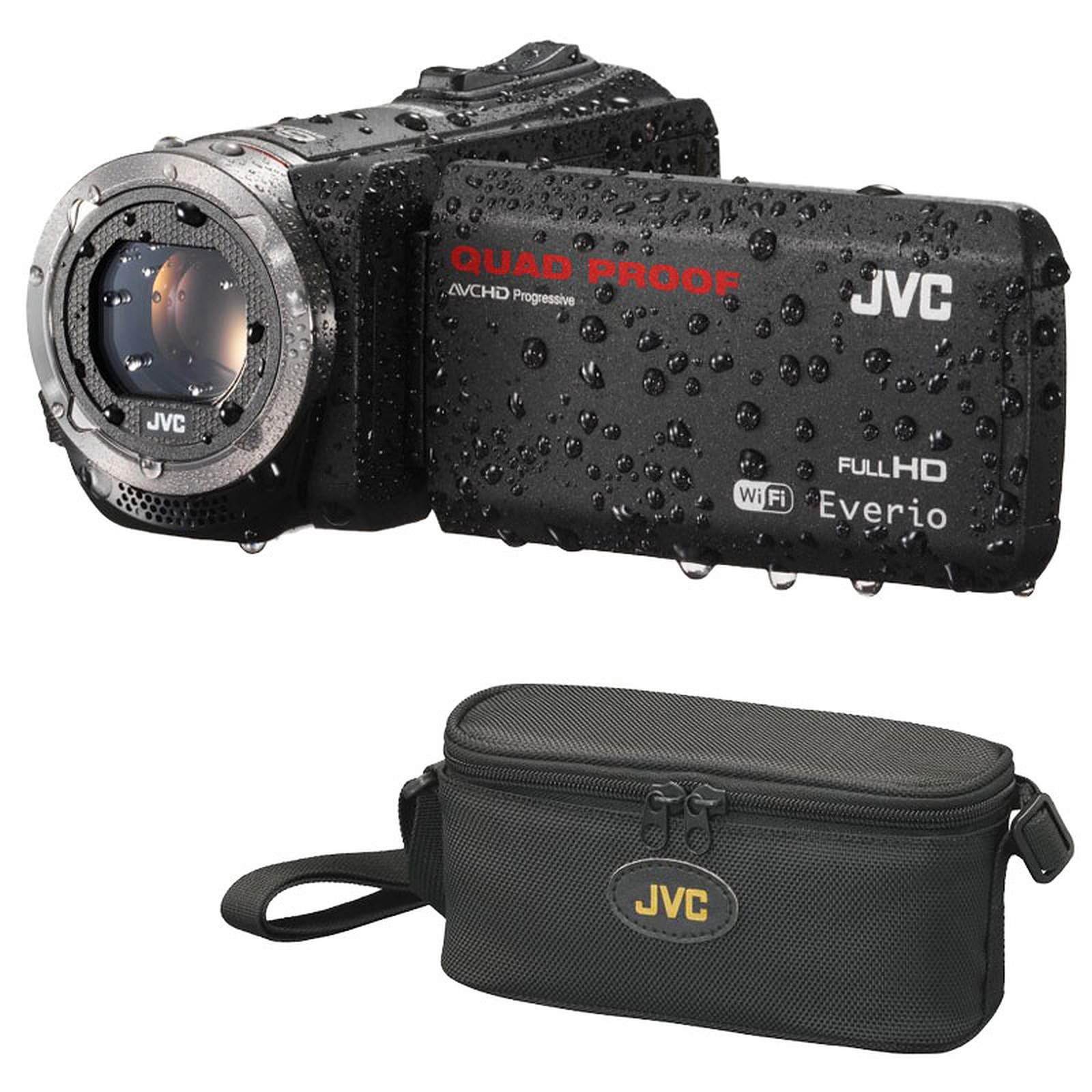 JVC GZ-RX515 Noir + JVC CB-VM89 + Carte SD 8 Go