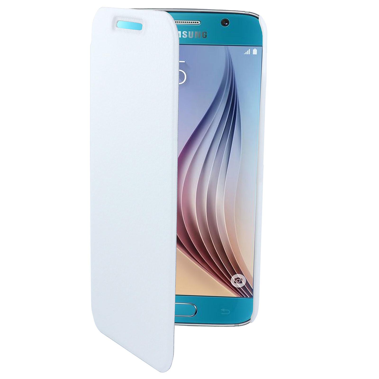 Swiss Charger Etui Folio Slim Blanc Samsung Galaxy S6