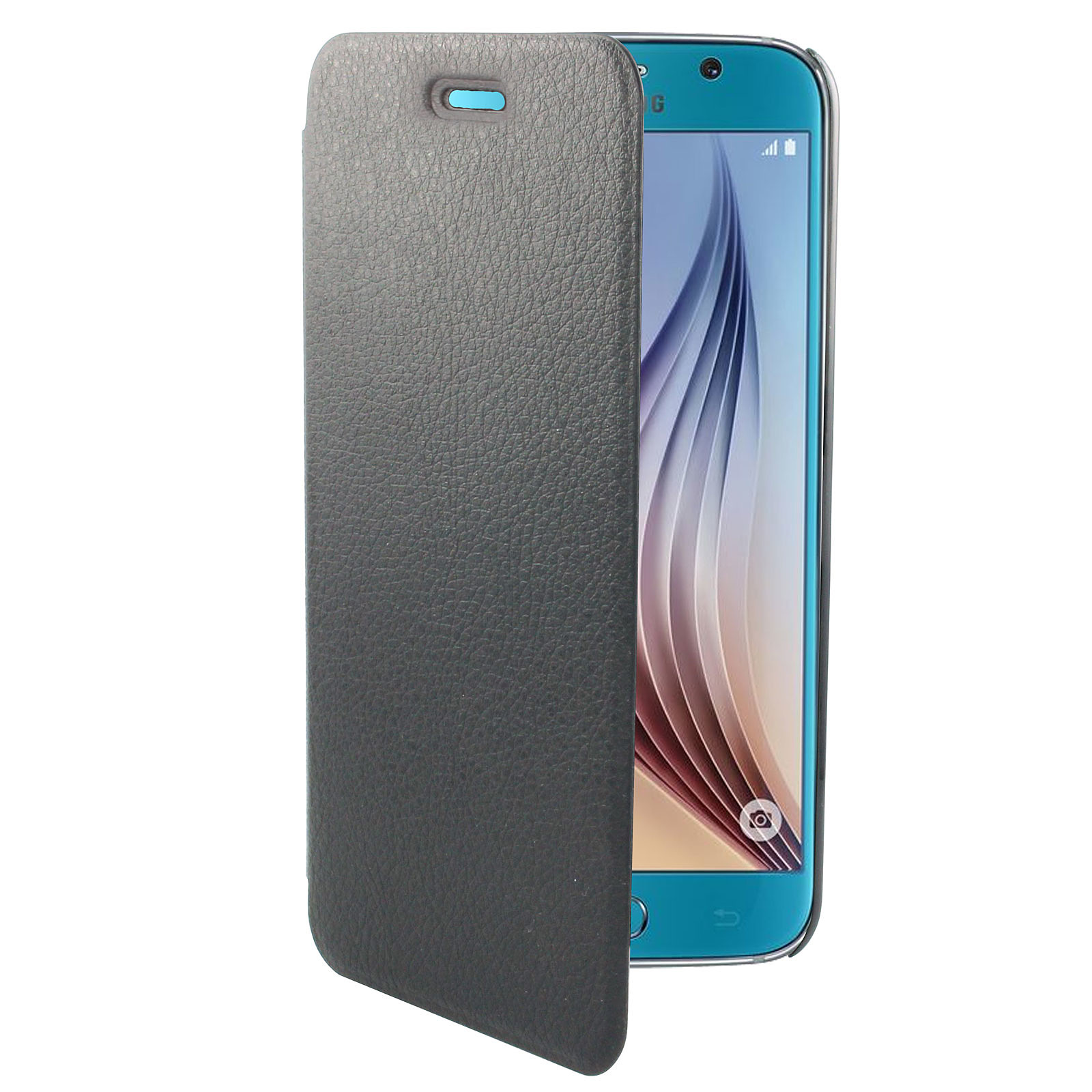 Swiss Charger Etui Folio Slim Noir Galaxy S6