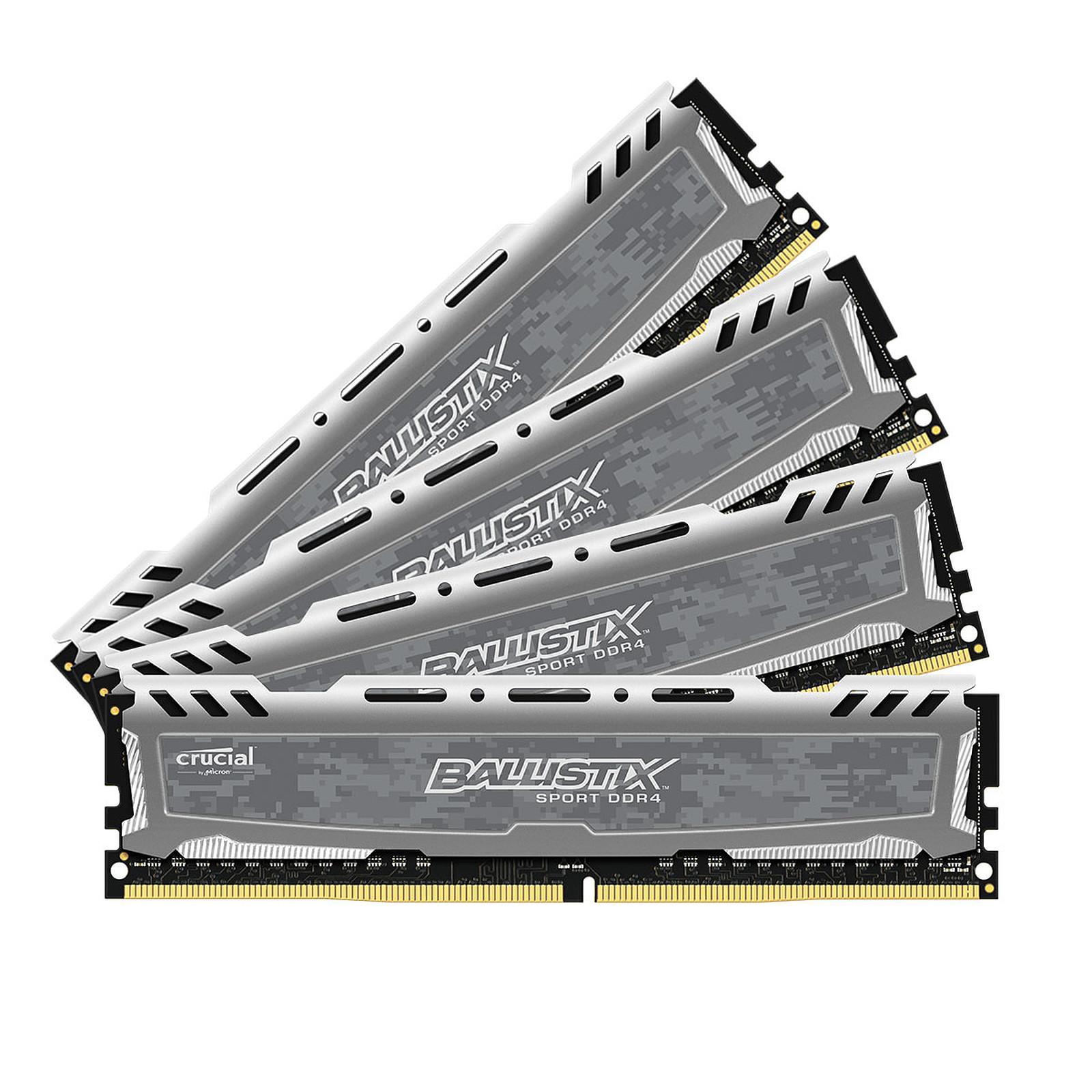 Ballistix Sport LT 32GB (4 x 8GB) DDR4 3000 MHz CL16 SR