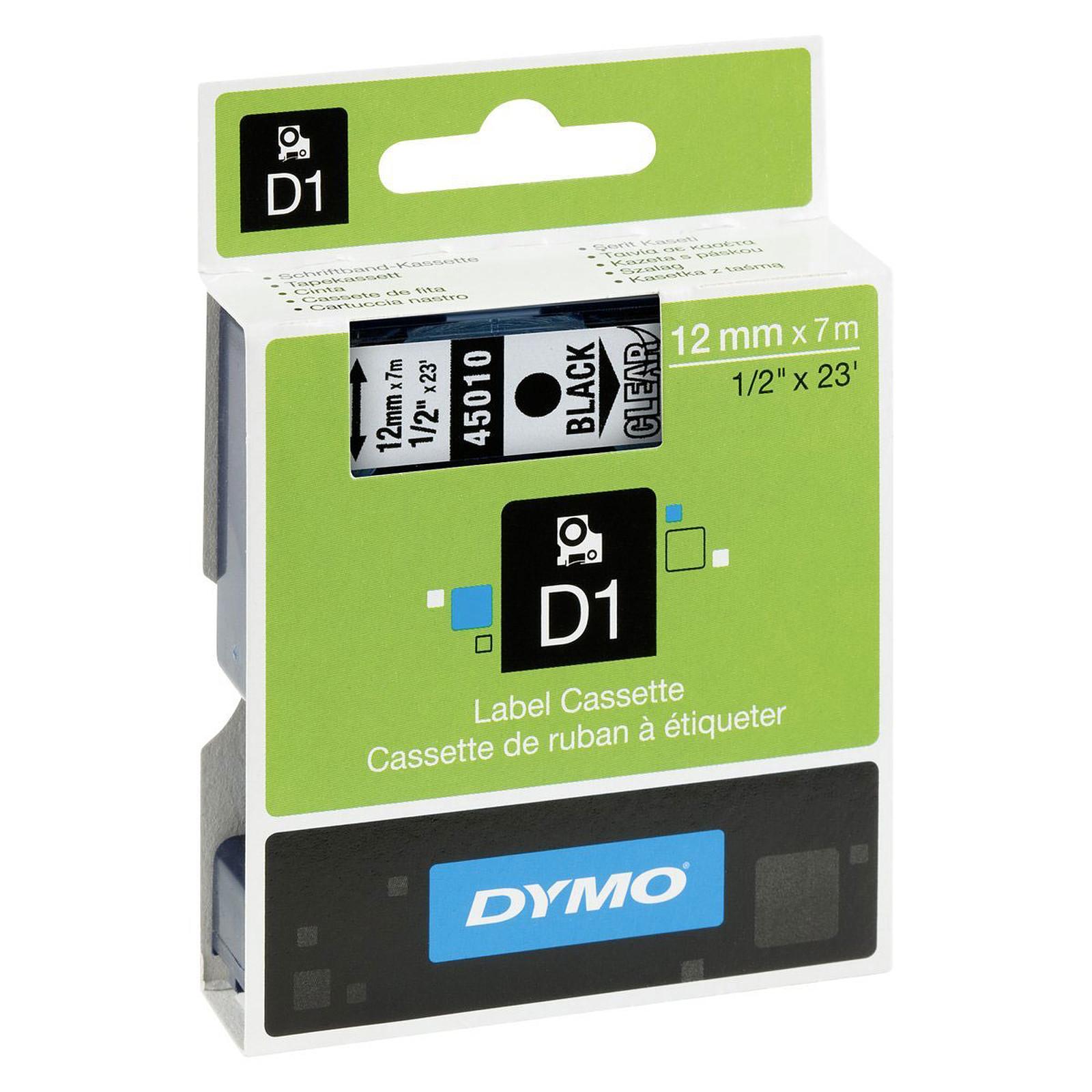 DYMO Ruban D1 Standard - noir/transparent 12 mm - 7 m