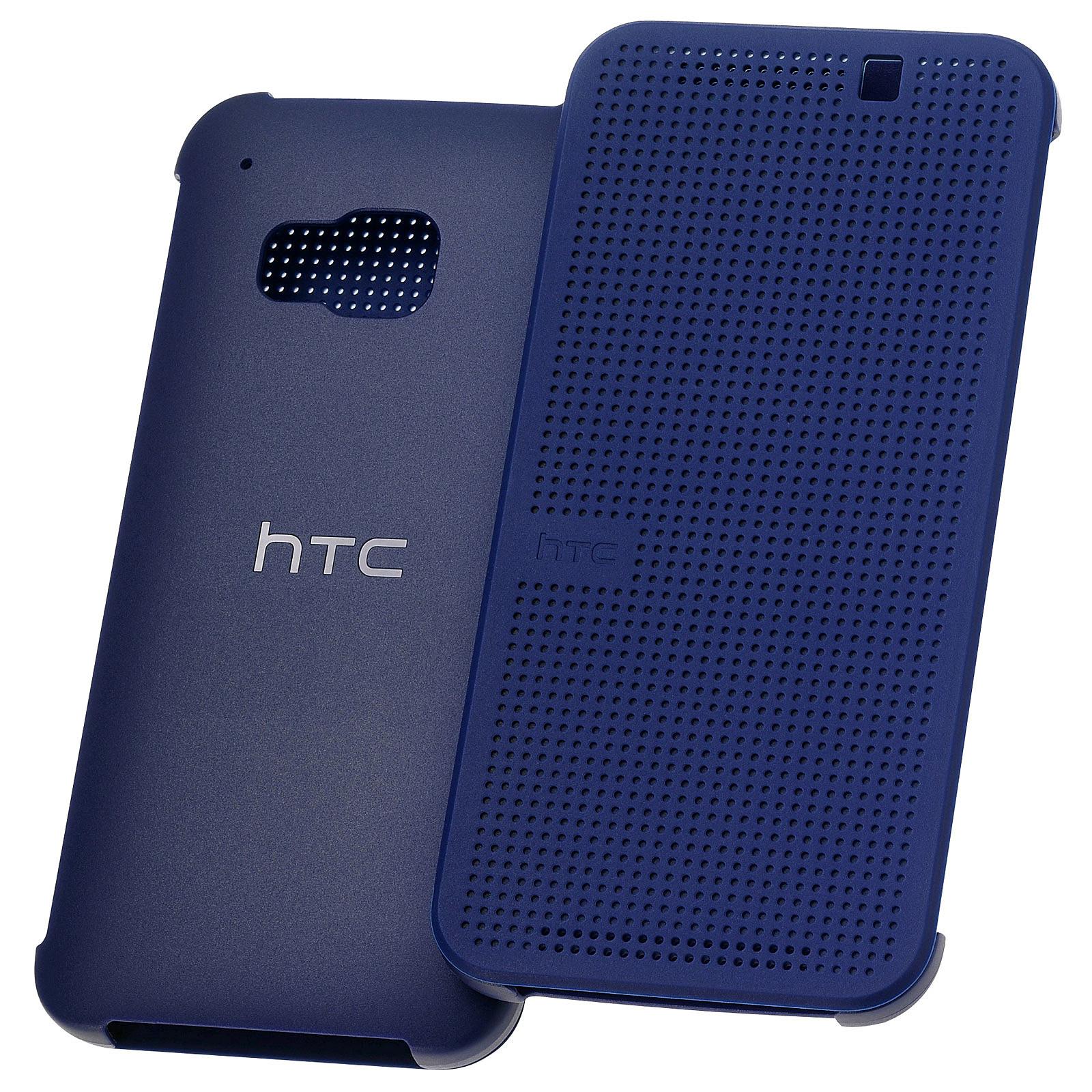 HTC Hard Shell Dot View Case Bleu HTC One M9