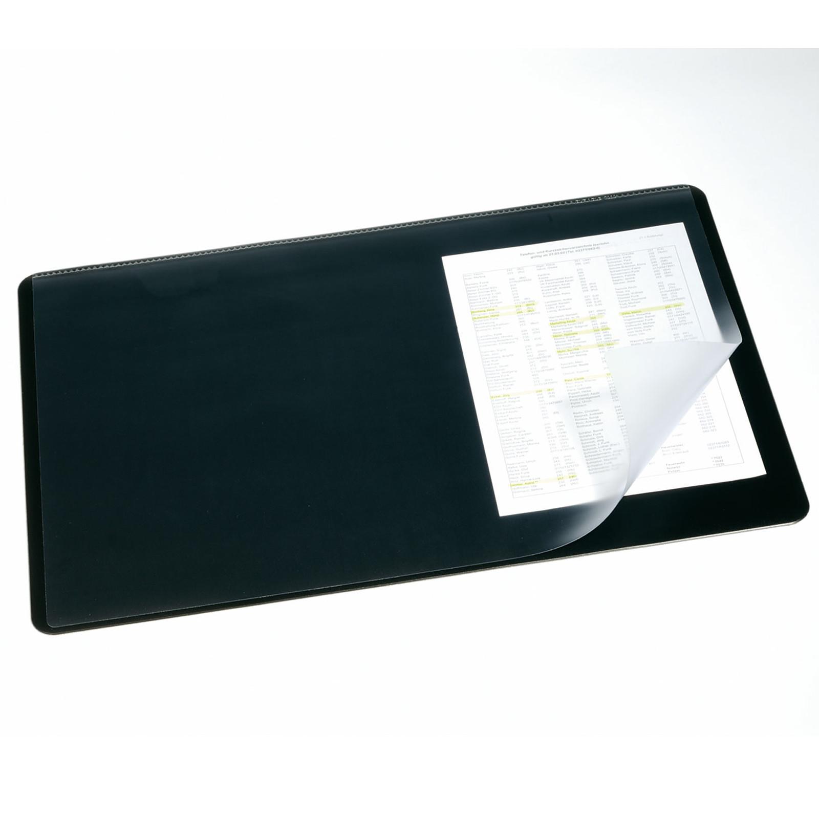 e7288cdb3e4a55 DURABLE Sous-main coloris noir avec rabat transparent 65 x 52 cm  Sous main