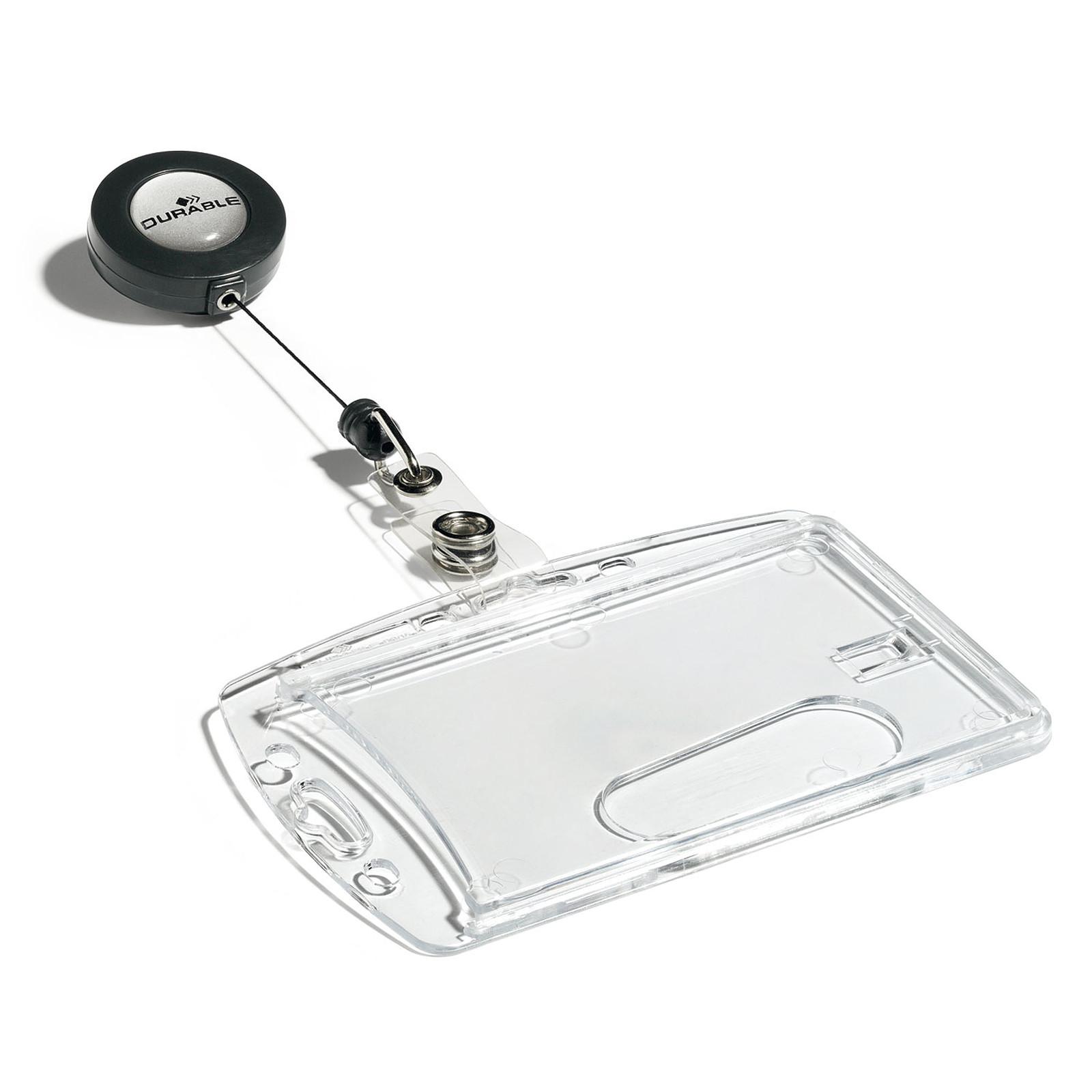 DURABLE Boîte de 10 porte-badges de sécurité avec enrouleur pour 1 carte